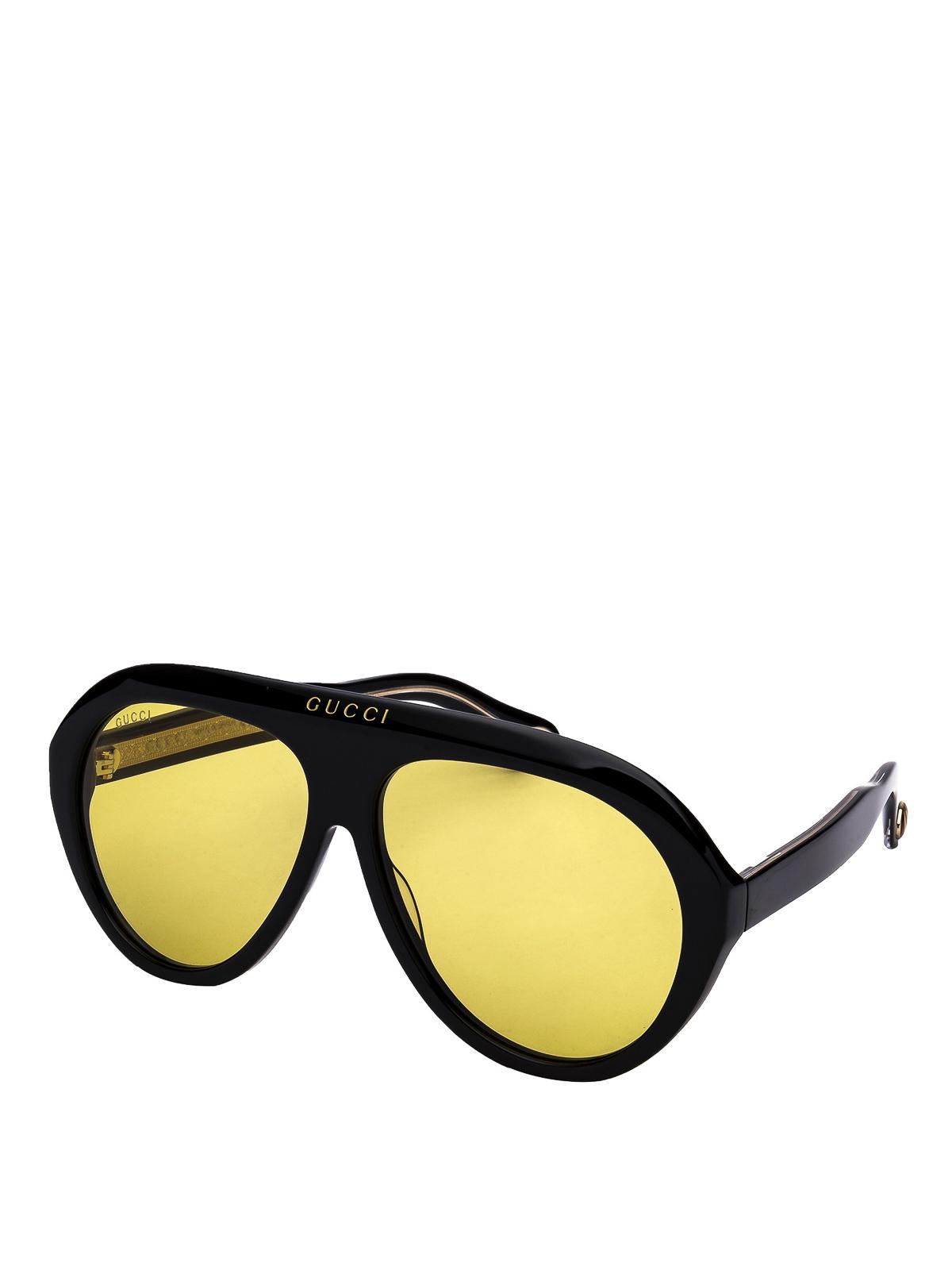 b7b99398cc1 Gucci - Navigator sunglasses with yellow lenses - sunglasses ...