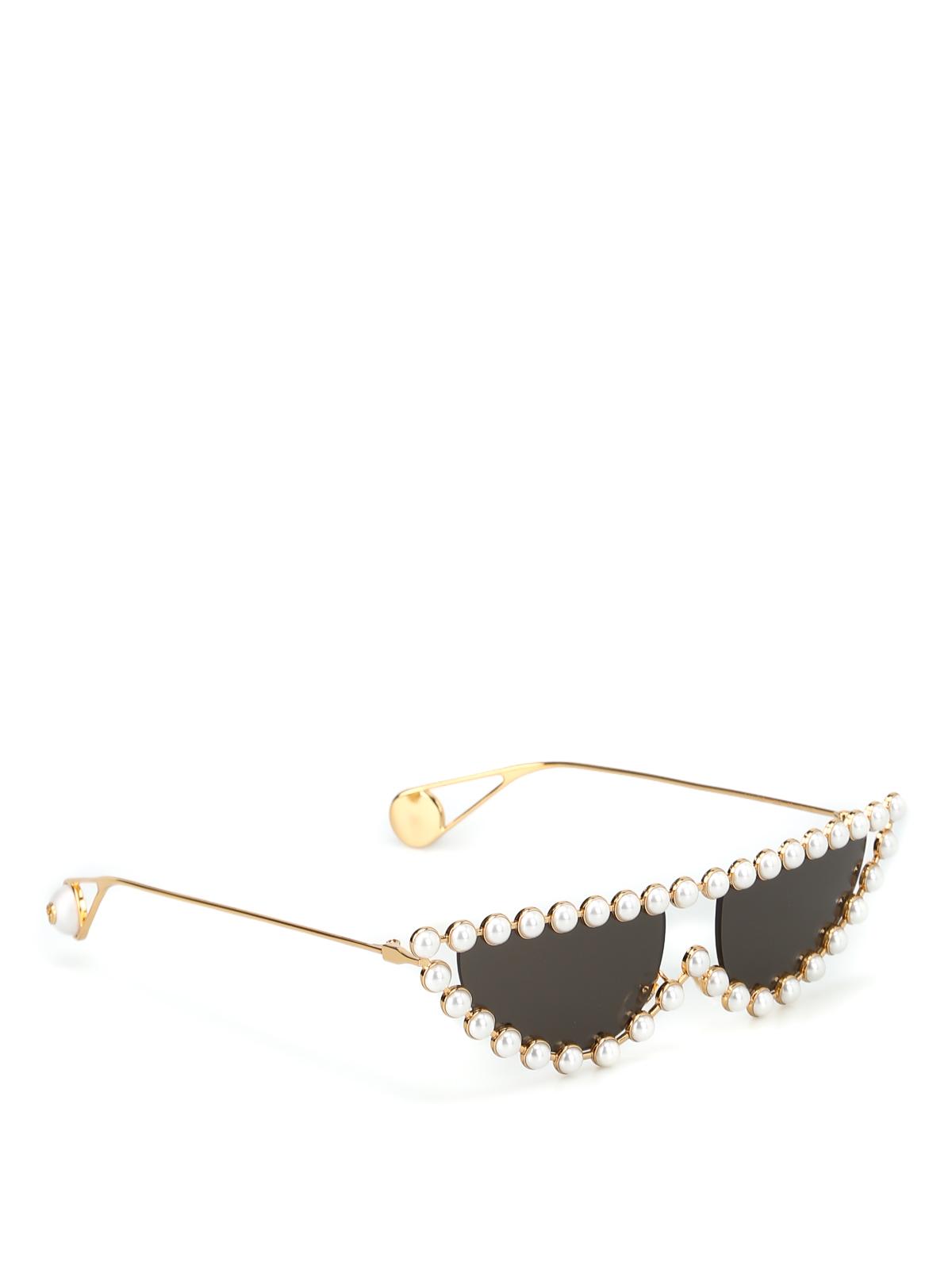 b40454dee0 Gucci - Pearls embellished cat eye sunglasses - sunglasses ...