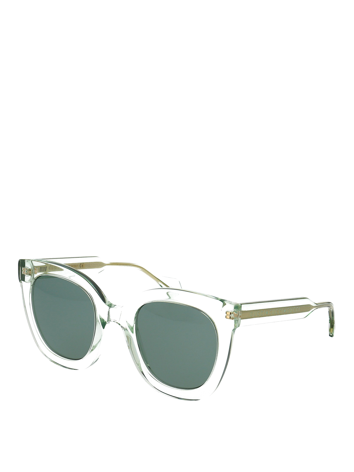 Gucci Sheer Frame Round Sunglasses