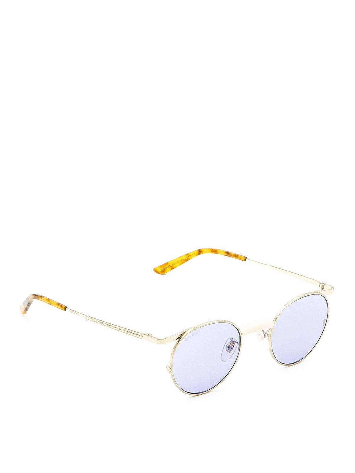 b075b5daf Gucci - Slim metal frame round sunglasses - sunglasses - GG0238S4