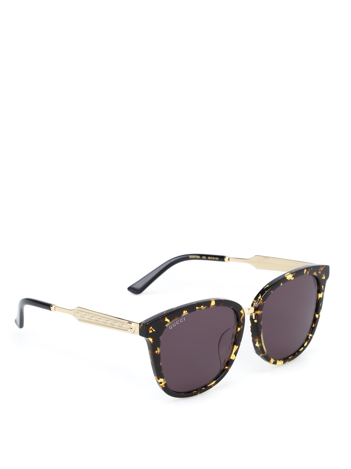b6954e68b9a Gucci - Spotted tortoiseshell sunglasses - sunglasses - GG0073SK 002