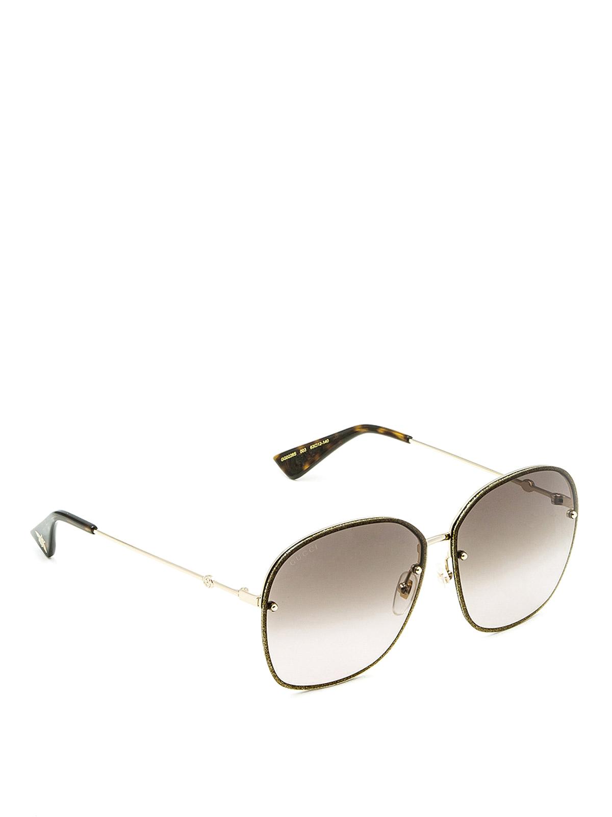 81690b20f3e Gucci - Square frame metal sunglasses - sunglasses - GG0228S3 ...