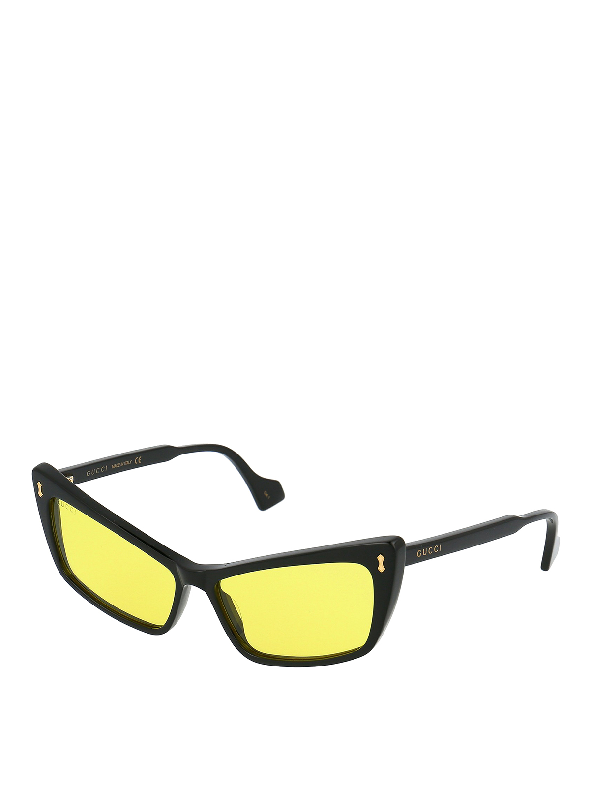 Gucci Tapered Lens Wayfarer Sunglasses In Black