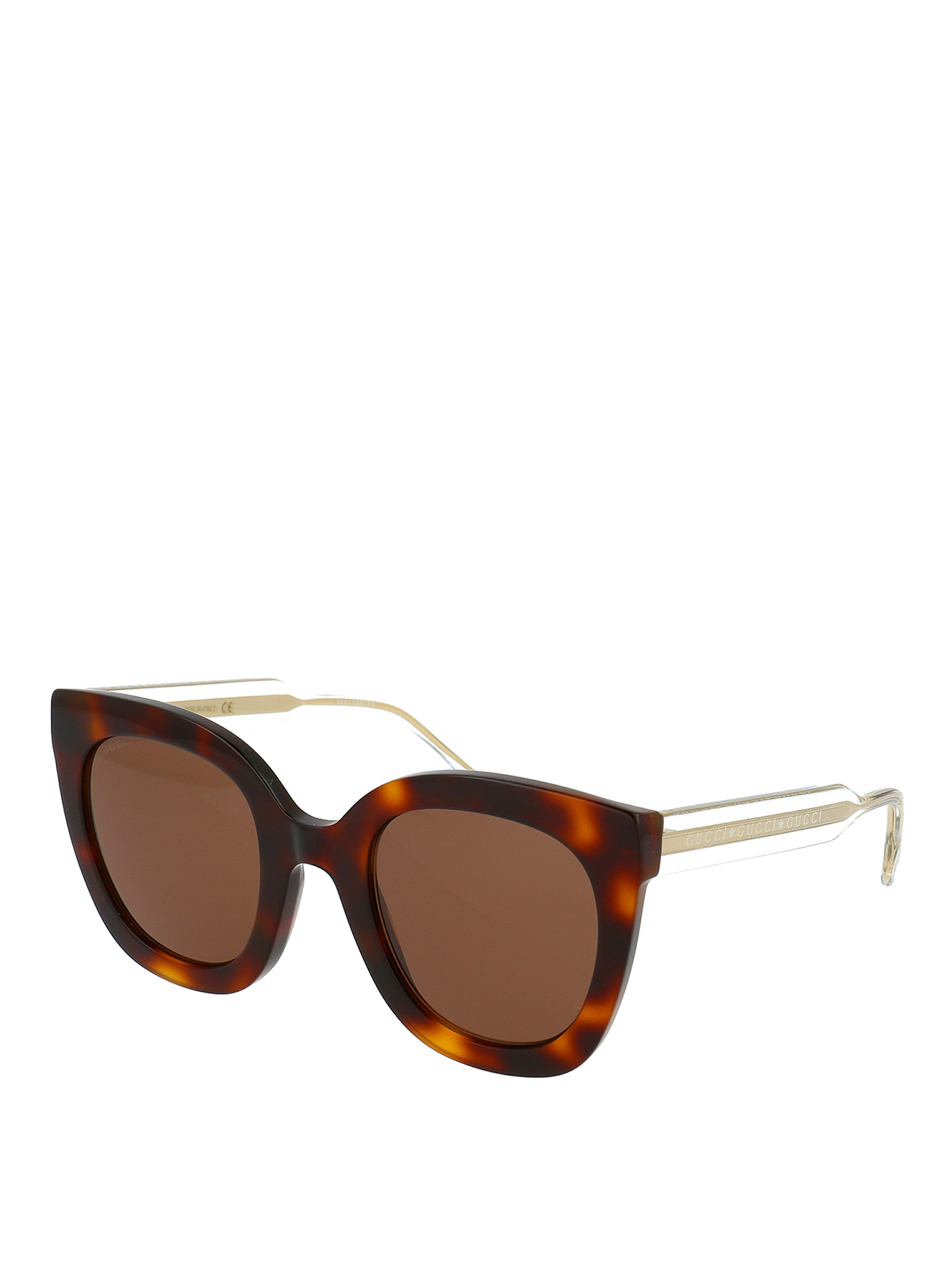 Gucci Tortoiseshell Cat-Eye Sunglasses In Brown