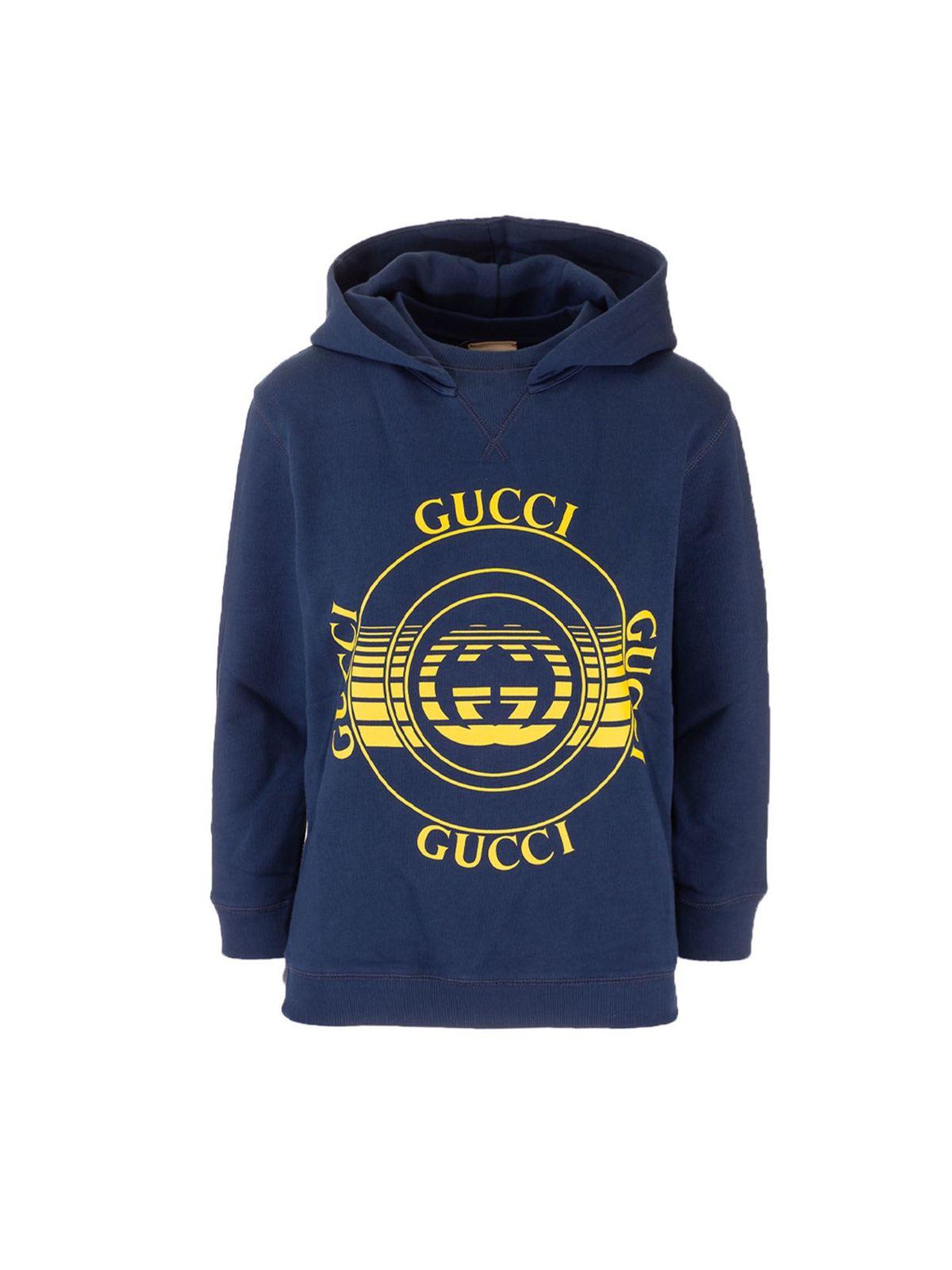 Gucci GUCCI DISCO HOODIE IN BLUE