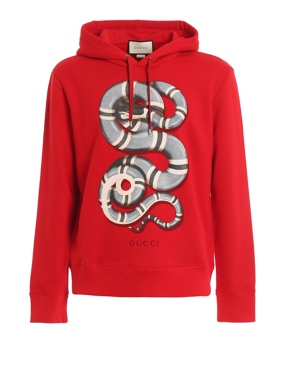 Snake print hoodie by Gucci - Sweatshirts & Sweaters | iKRIX
