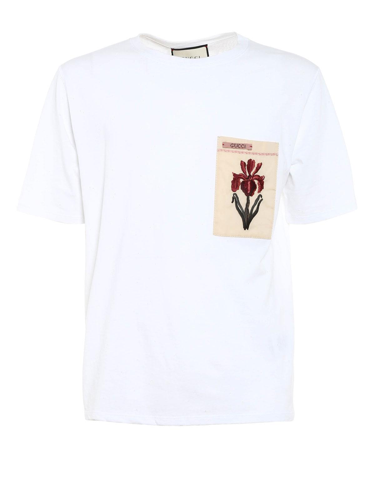 0ecde565 Gucci - T-Shirt Aus Baumwolle Mit Löcher - T-shirts - MN0 408843 ...