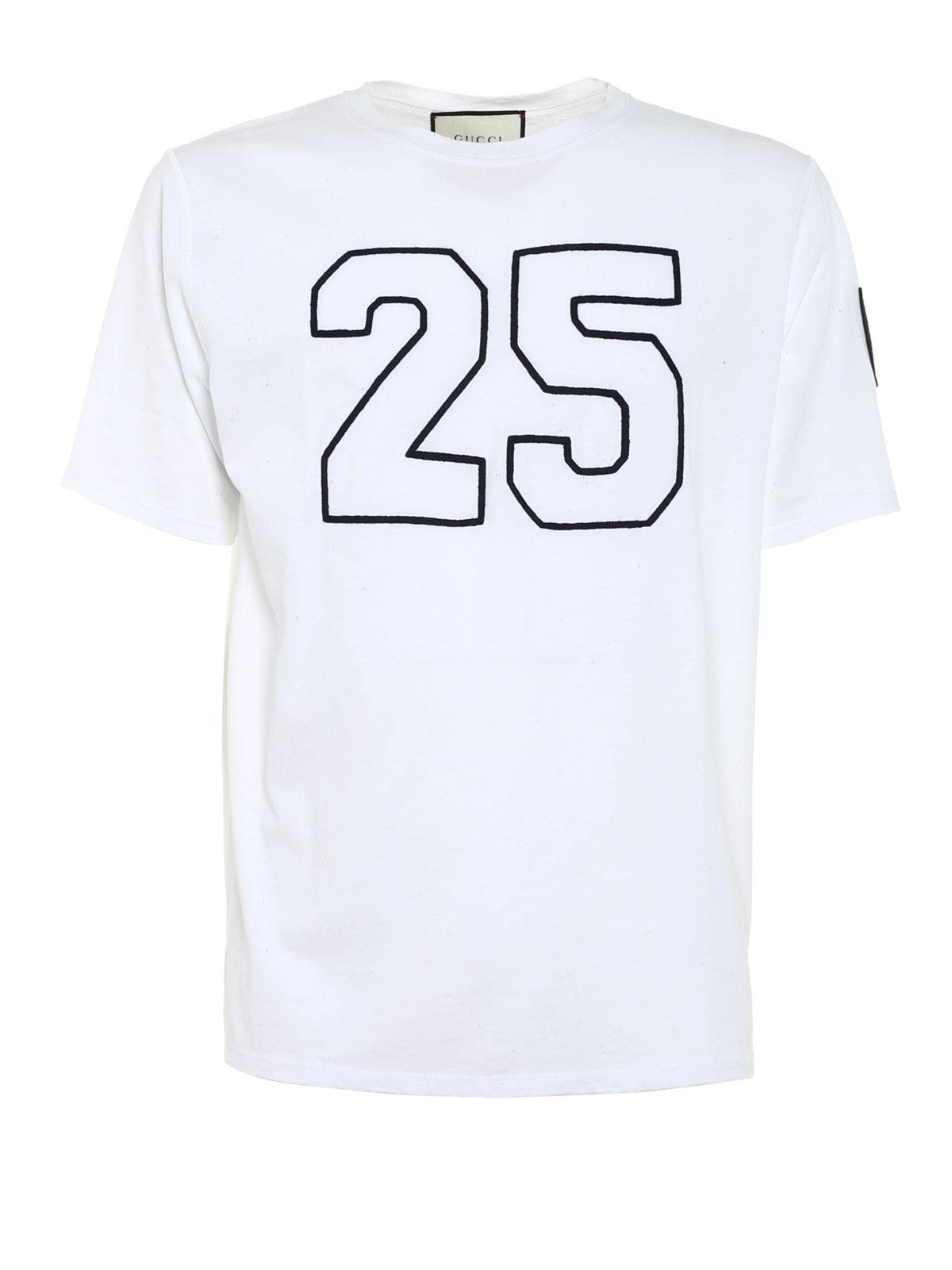 994881db Gucci - T-Shirt Aus Baumwolle Mit Löcher - T-shirts - MN0 408849 ...