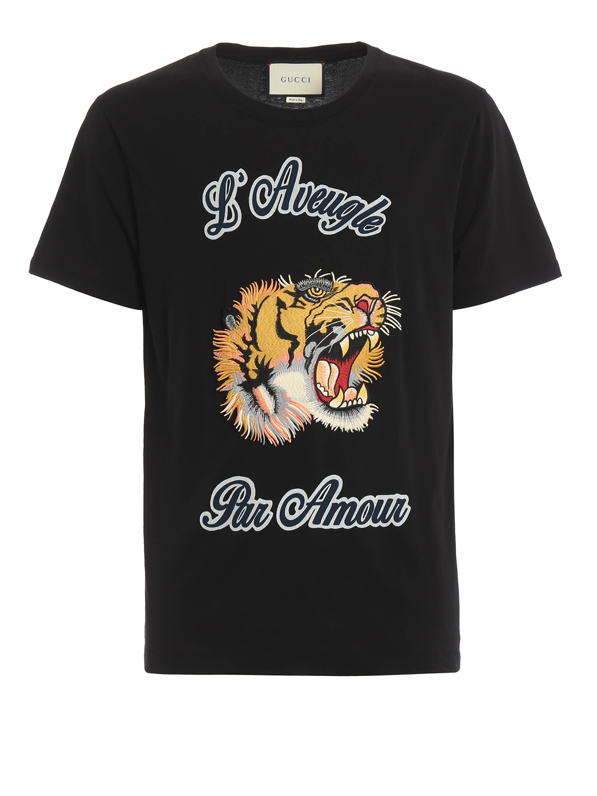 Embroidered tiger patch t shirt by gucci shirts ikrix