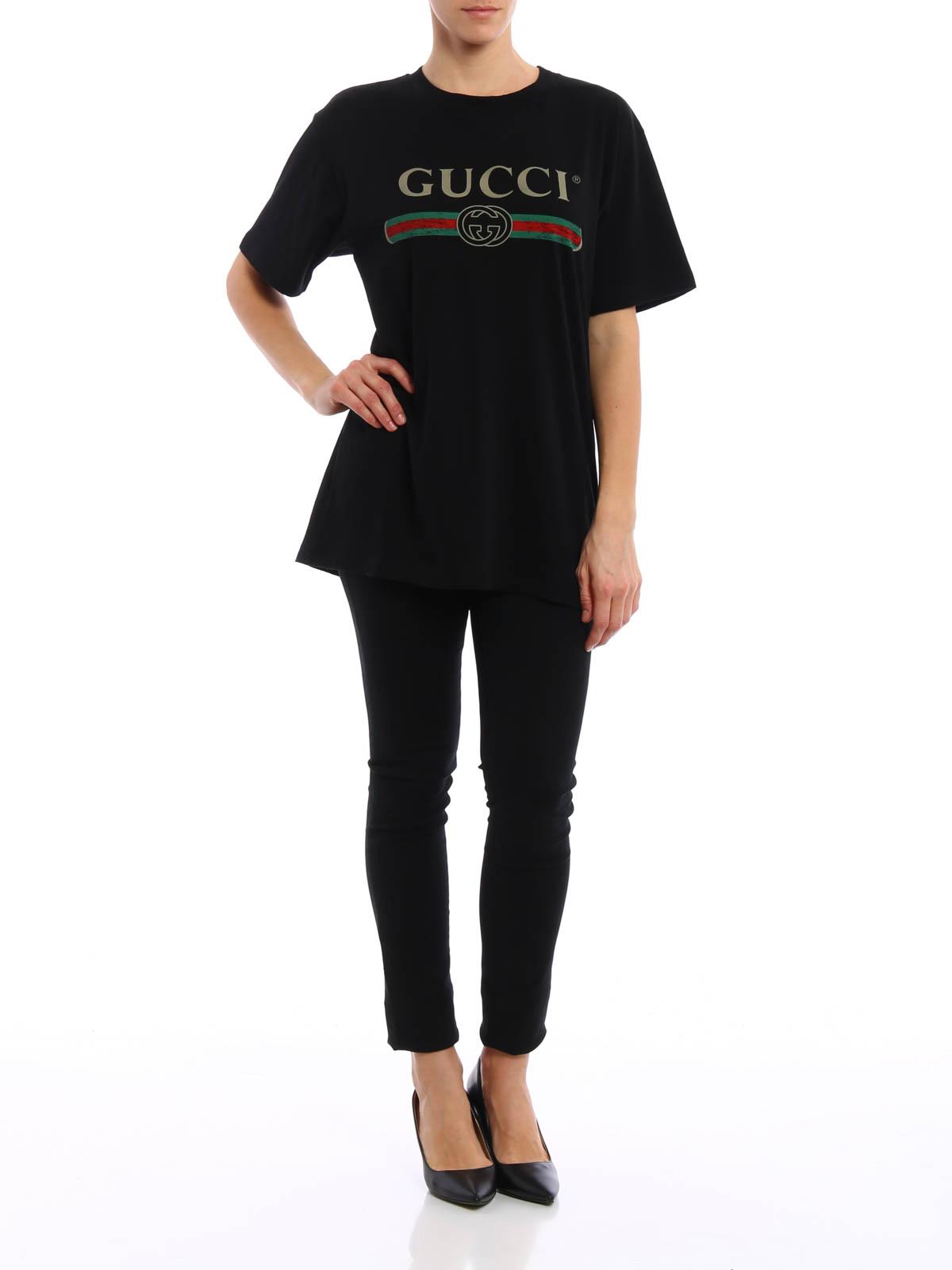 camiseta negra para mujer de gucci camisetas ikrix ikrix. Black Bedroom Furniture Sets. Home Design Ideas
