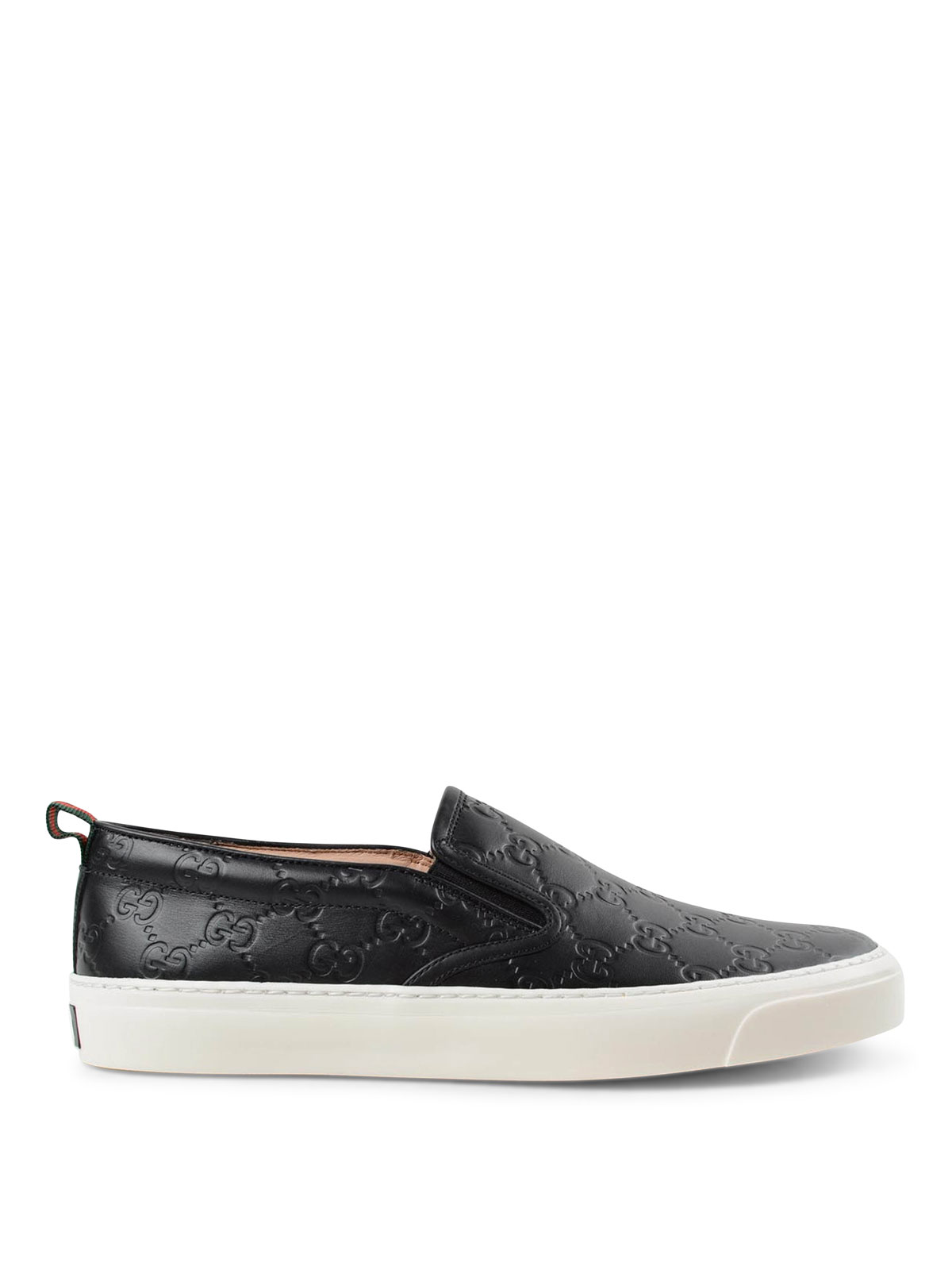 Gucci - Gucci Signature leather slip-ons - trainers - 408510 CWCEO 1174