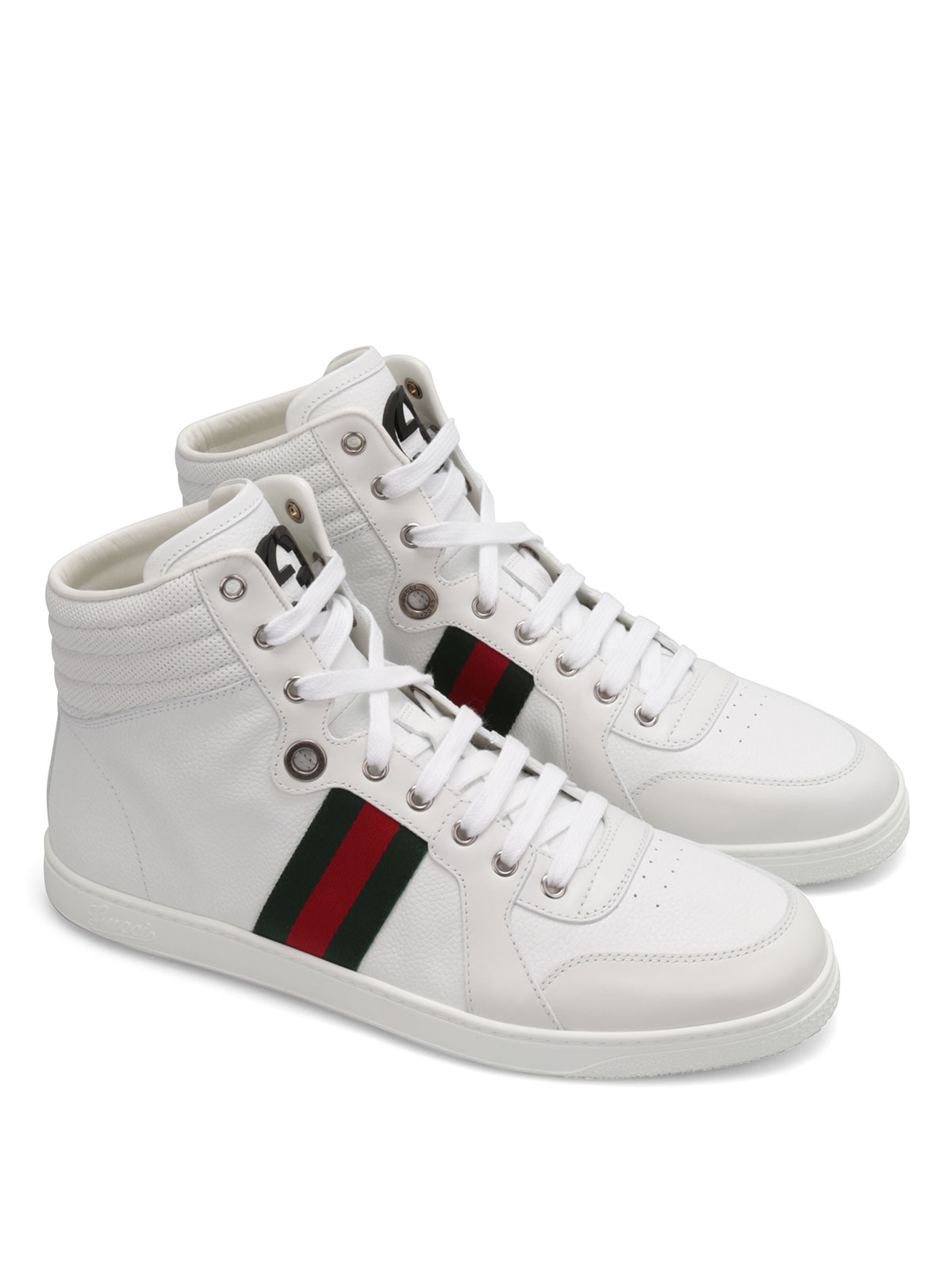 Gucci - Leather high-top sneakers