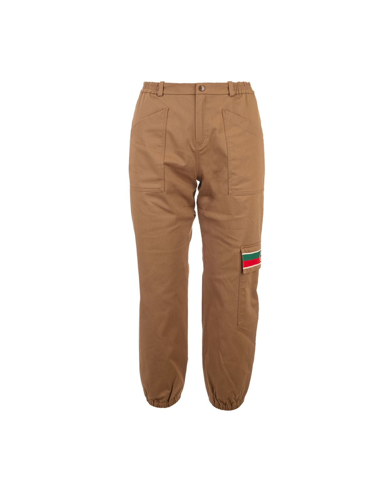 Gucci CAMEL-COLORED PANTS WITH POCKETS