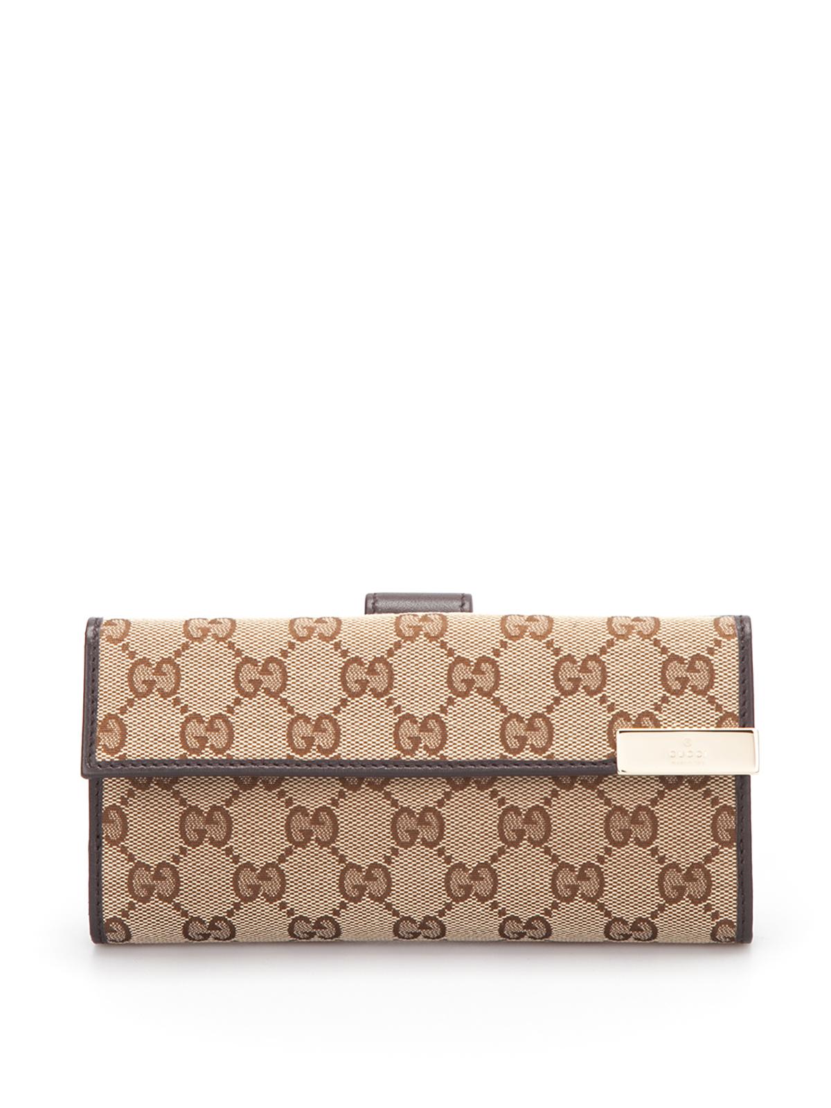 ed473e19462 Gucci Gg Canvas Continental Wallet Wallets Purses 257012