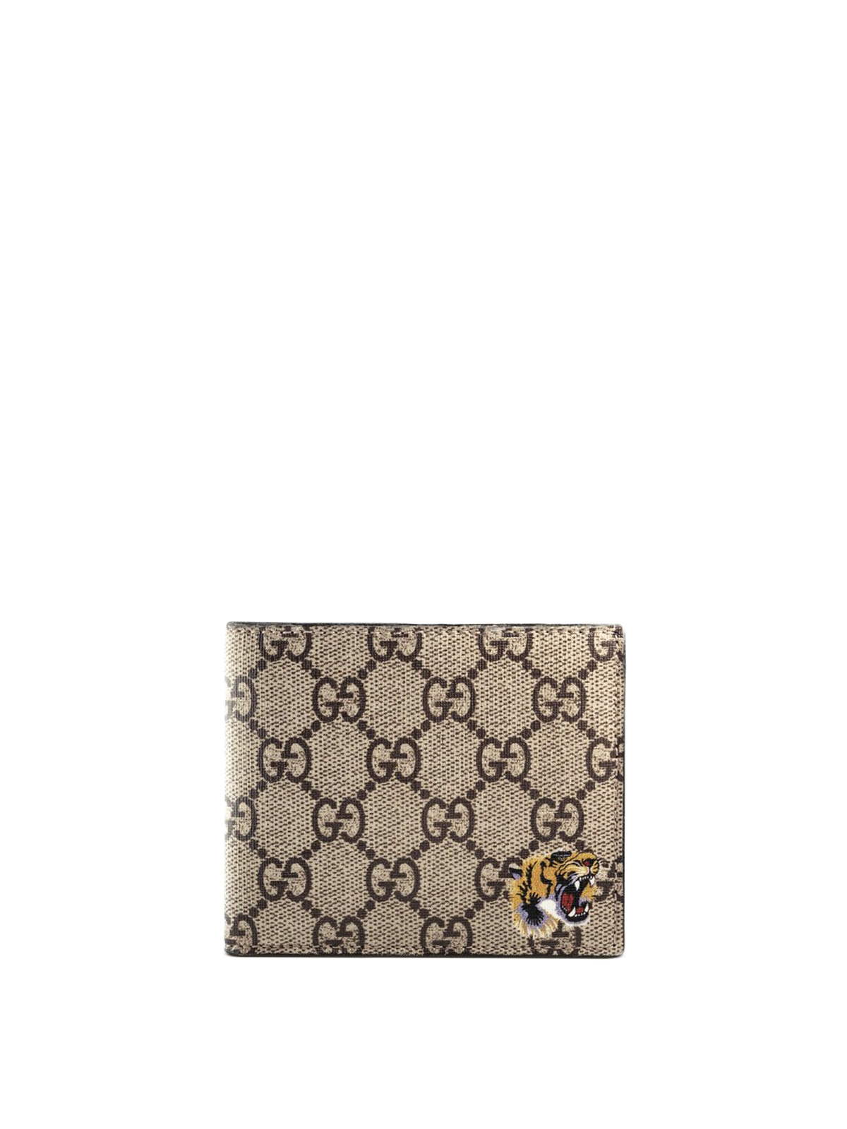 Gucci Tiger Print Gg Supreme Wallet Wallets Amp Purses