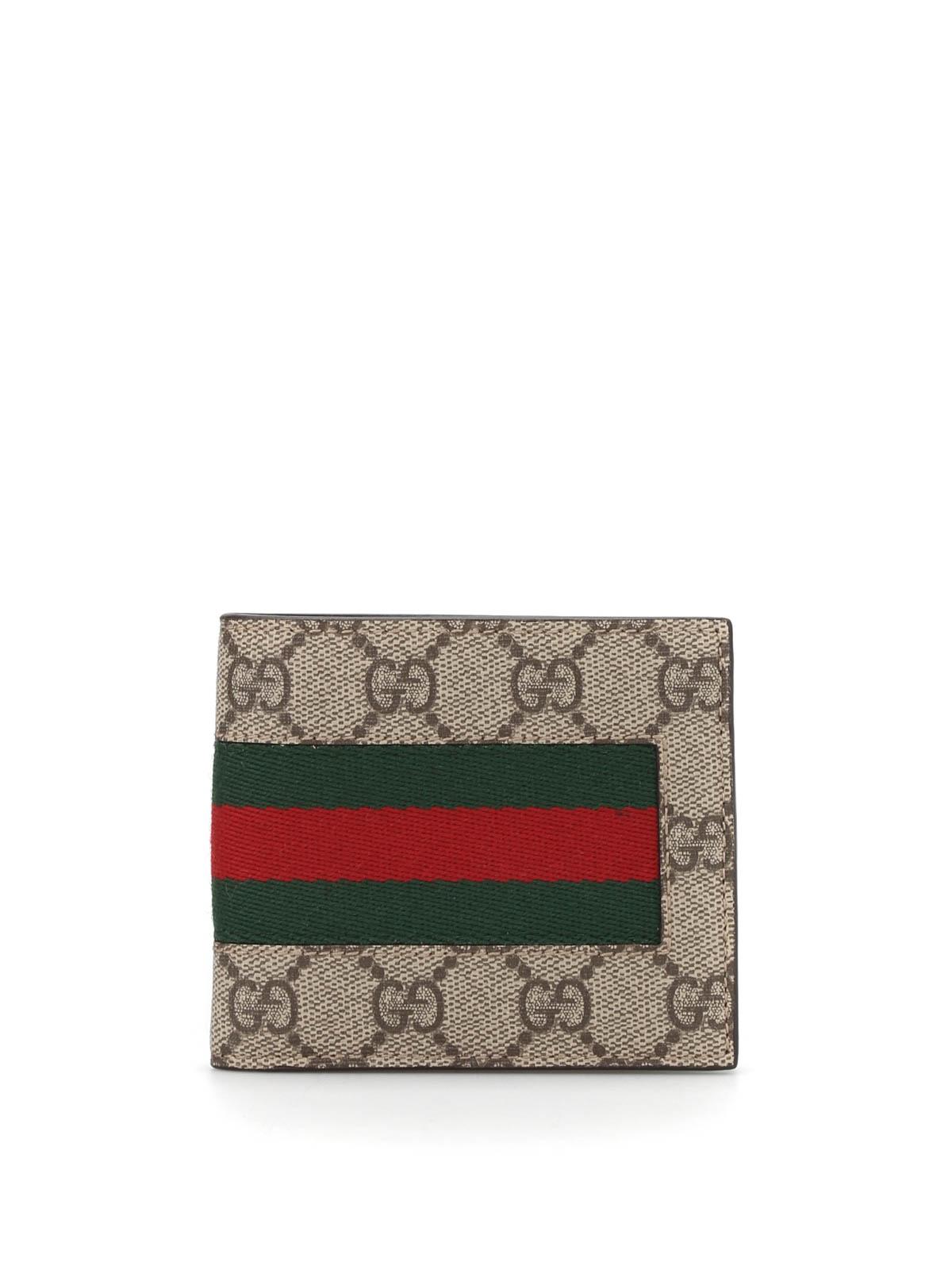 Gucci Web Gg Supreme Wallet Wallets Amp Purses 408827