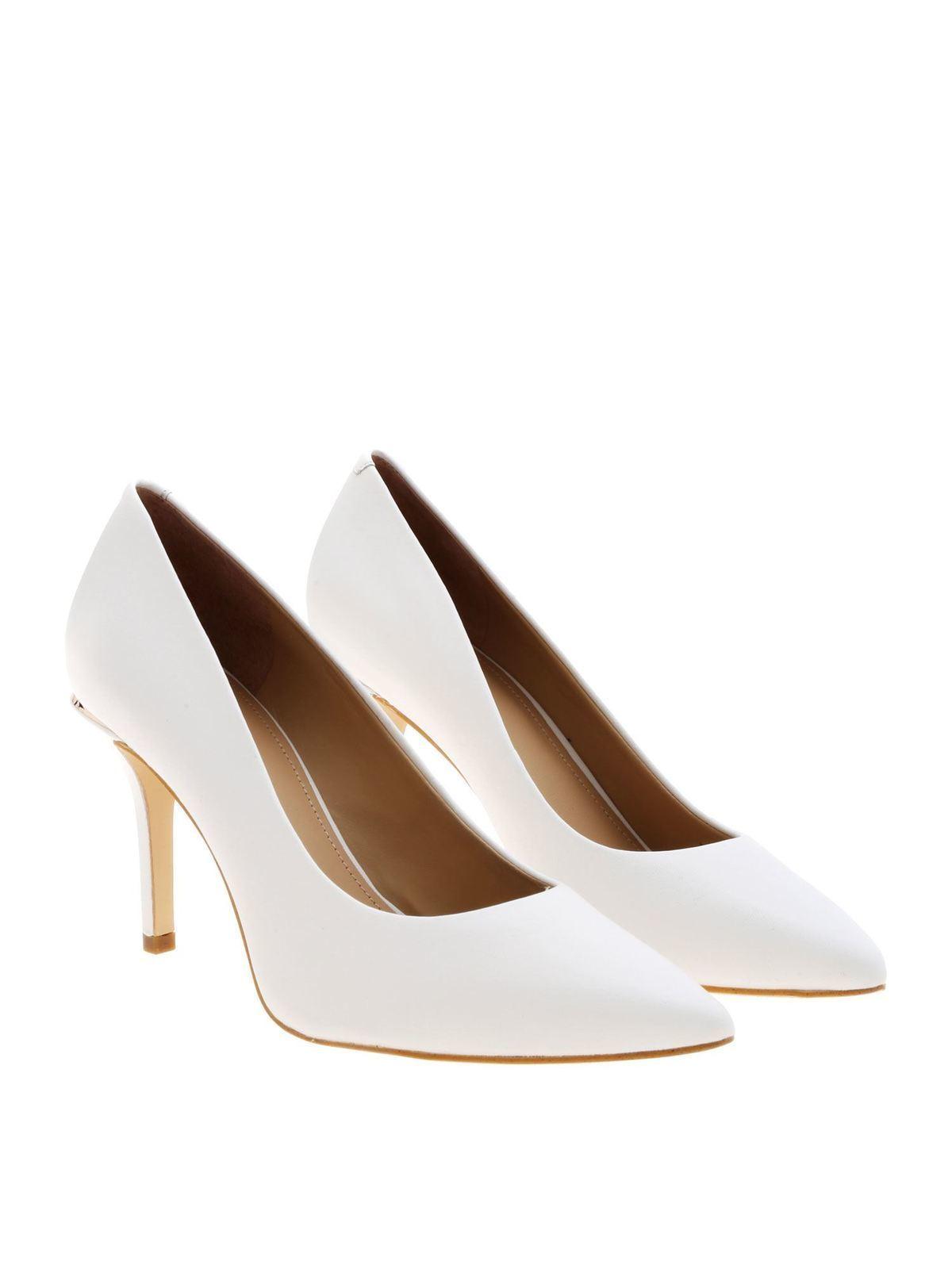 Guess Chaussures À Talon Blanc Escarpins