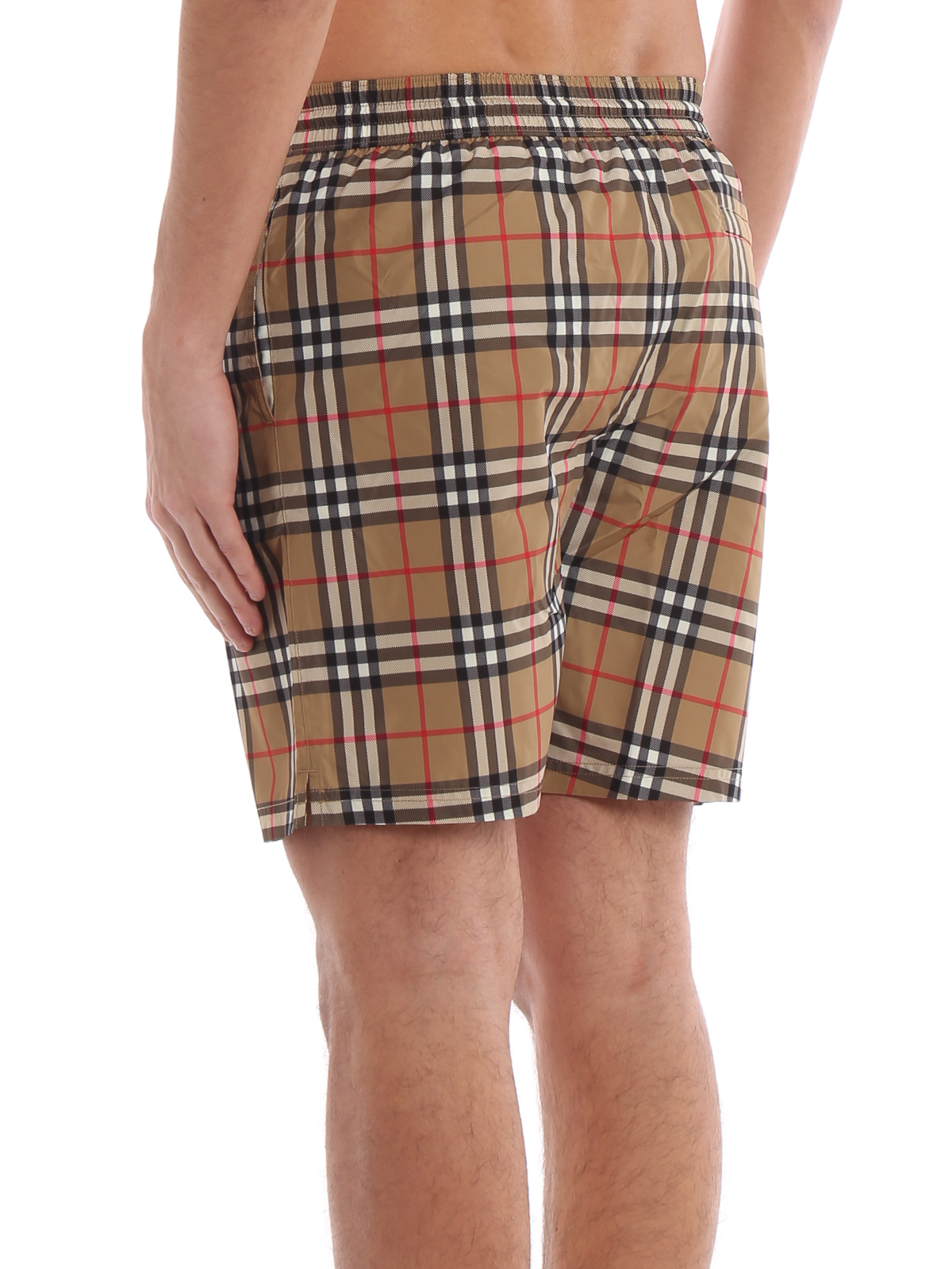 7855335a38 Burberry - Guildes antique yellow Check swim shorts - Swim shorts ...