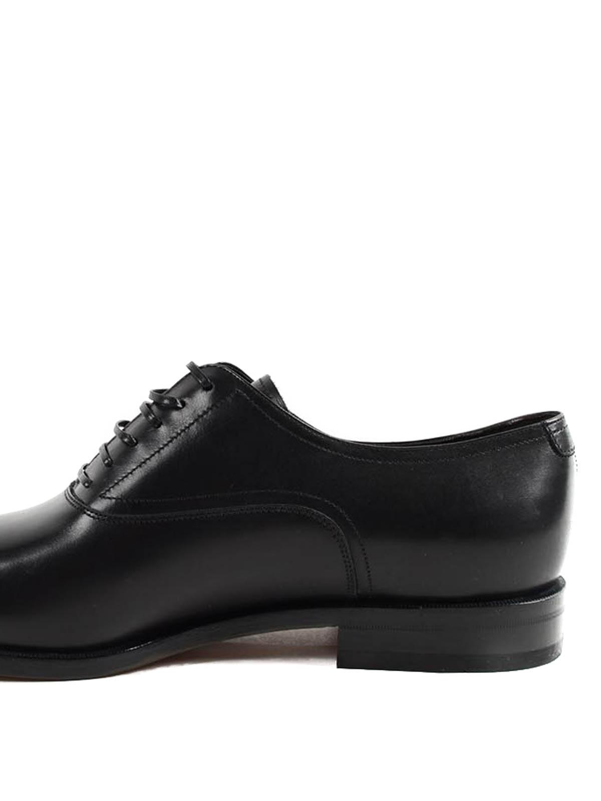 Salvatore Ferragamo - Zapatos Con Cordones Guru - Negro - Clásicos ... a3b9b08a26