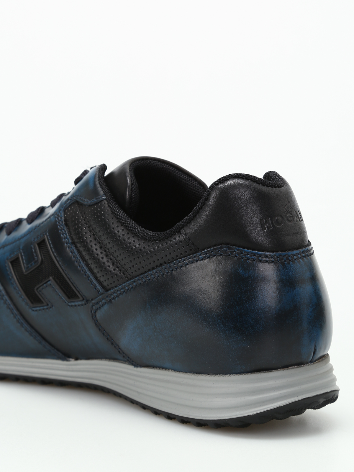 Hogan - H205 Olympia blue leather sneakers - trainers ...