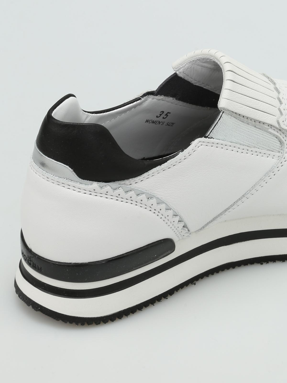 Hogan - H222 fringed leather slip-ons - trainers - HXW2220X170DZF016U