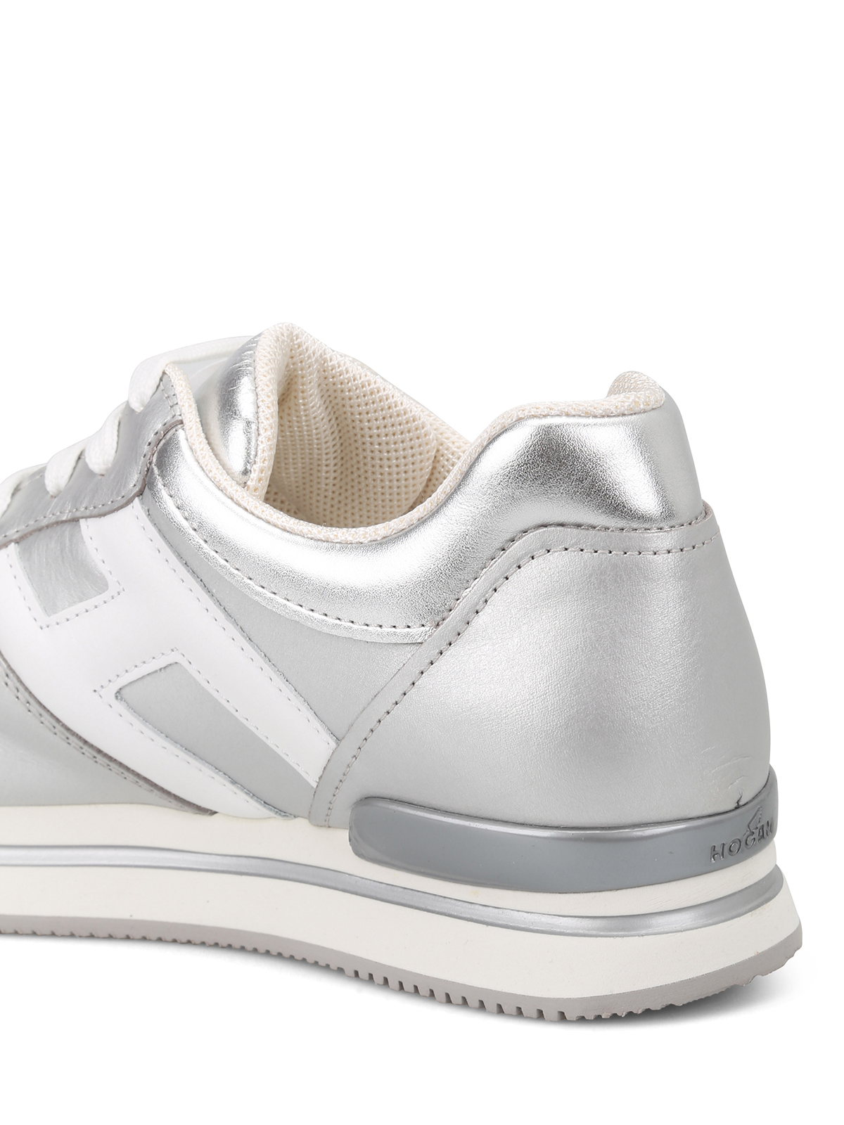 Sneakers Hogan - Sneaker H222 argento e bianche - HXW2220T548I8G0906