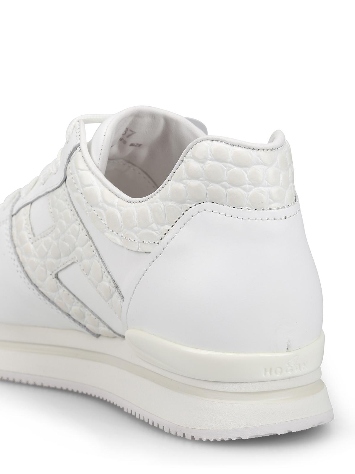 Hogan - Sneaker H222 bianche in pelle - sneakers - HXW2220T548KGKB001 41369fd237b