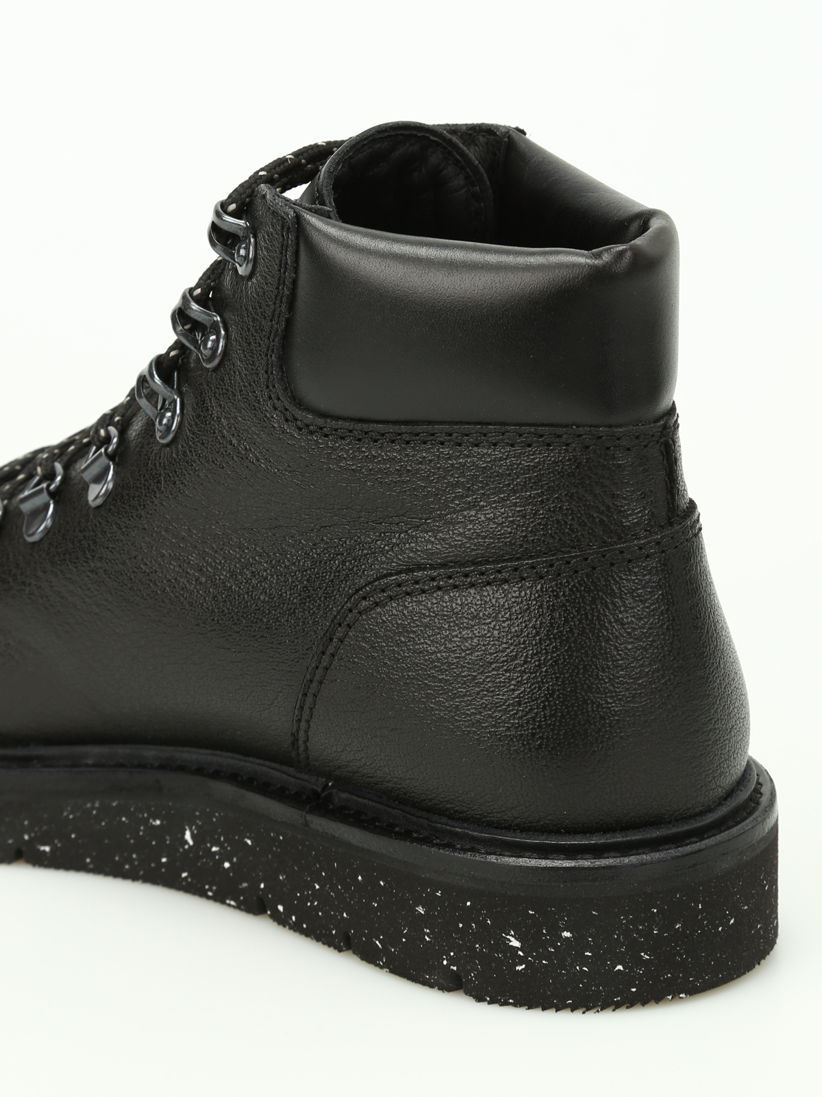Hogan - H334 grainy leather hiking boots - ankle boots ...