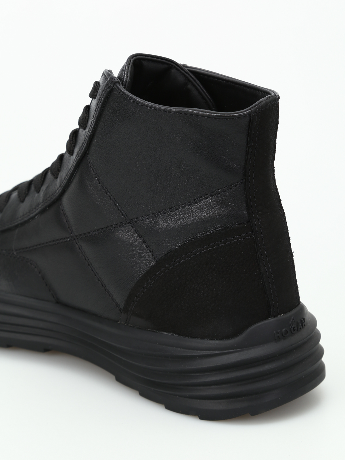 Hogan - H341 Helix hi-top leather sneakers - trainers ...