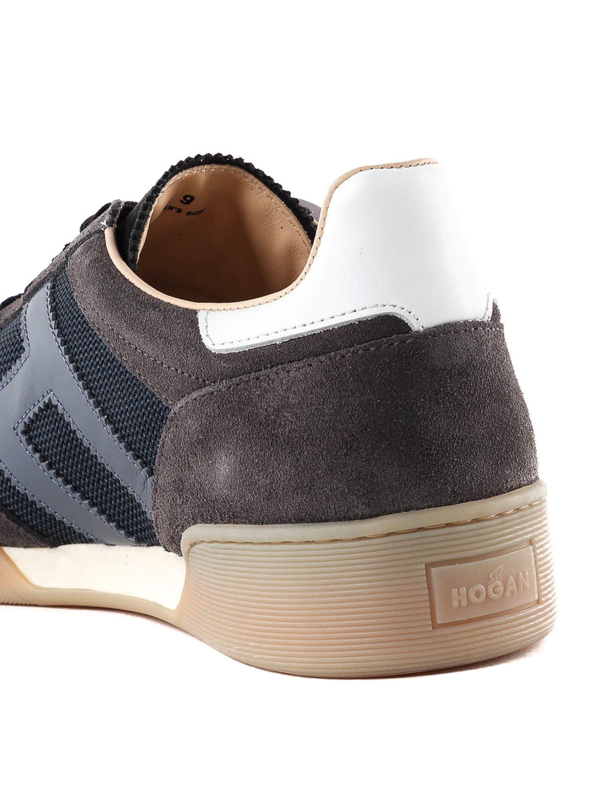 Hogan - Sneaker H357 marrone e blu in camoscio - sneakers ...