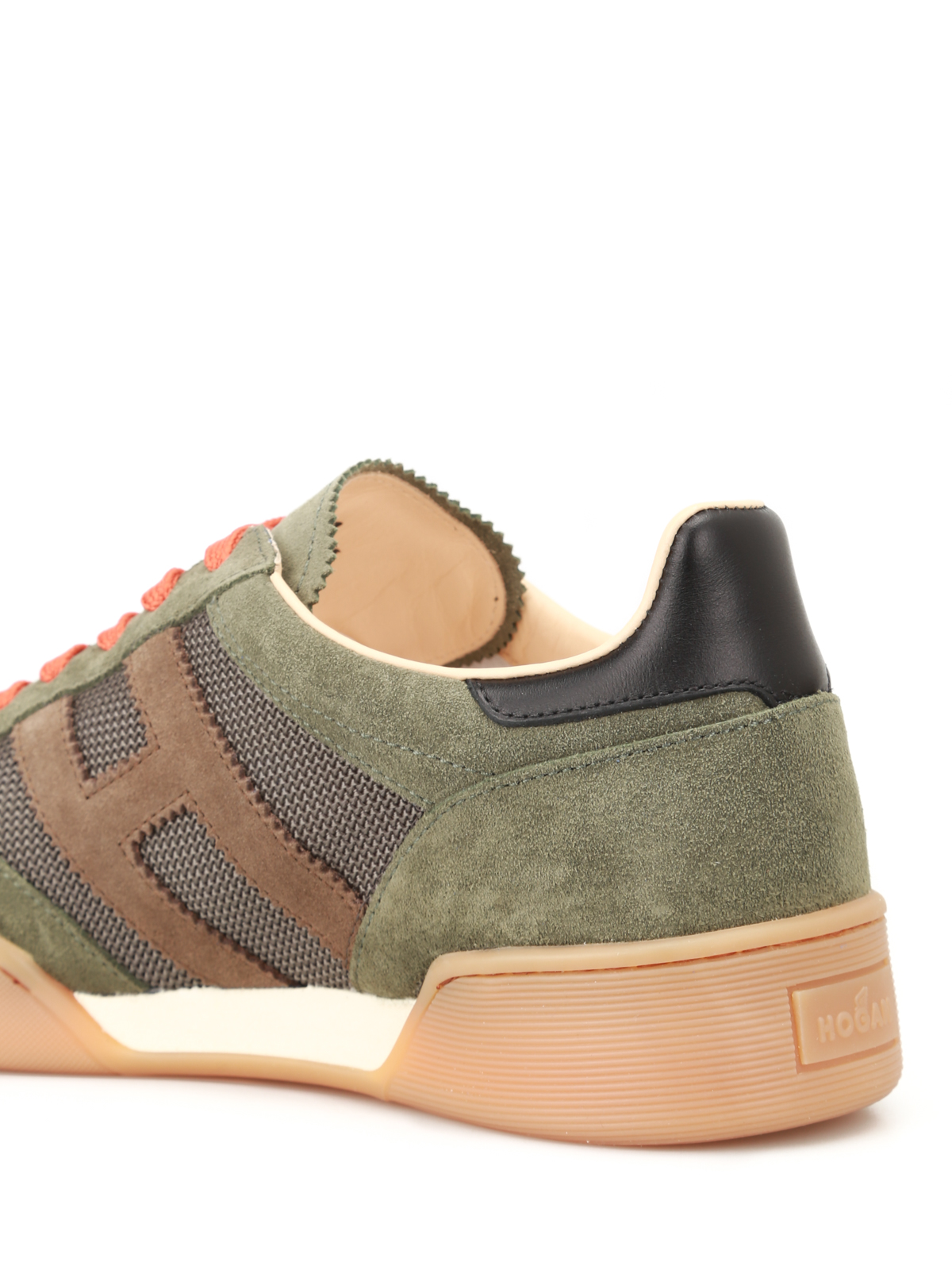 Trainers Hogan - H357 suede and fabric sneakers - HXM3570AC40IPK931L