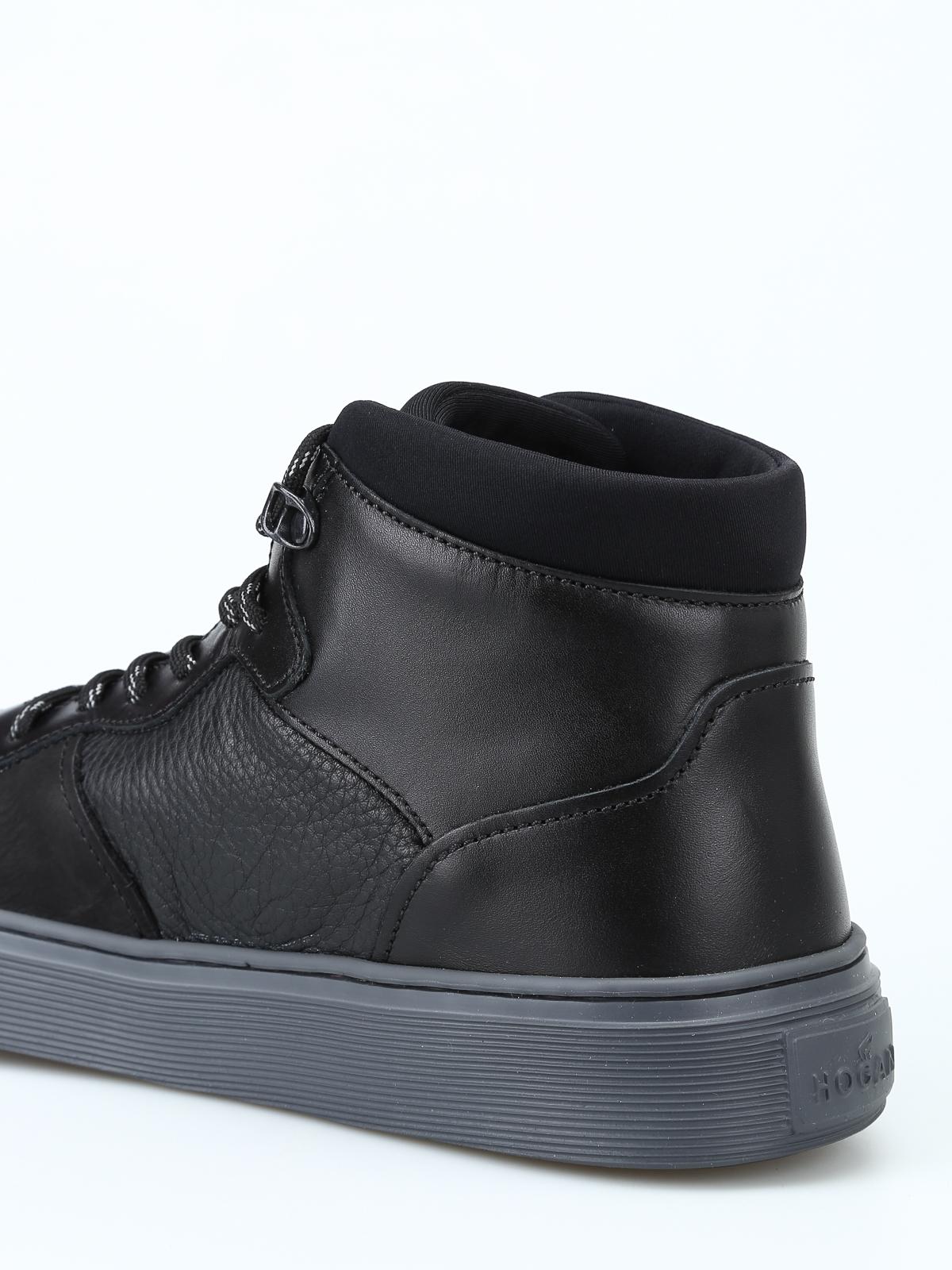 c597748dce Hogan - Sneaker alte H365 nere modello basket - sneakers ...