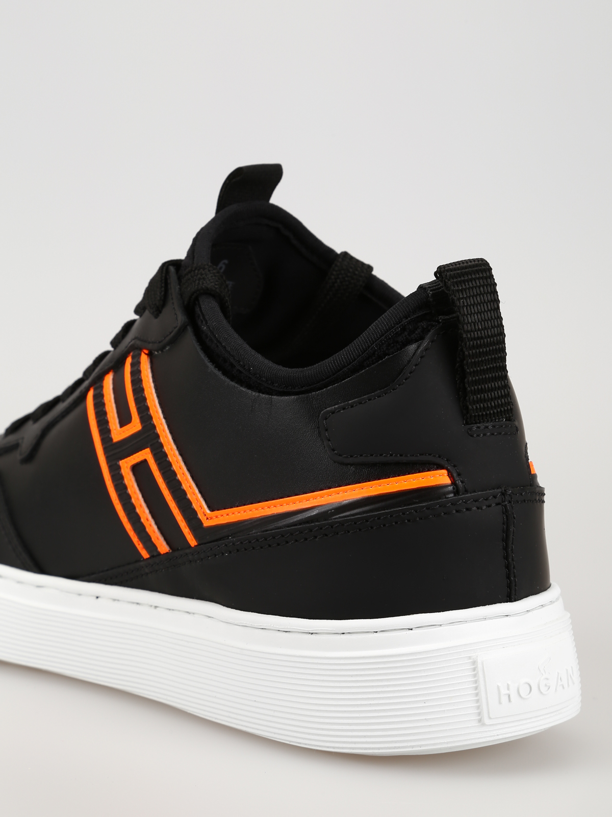 Trainers Hogan - H365 fluo detailed black sneakers ...