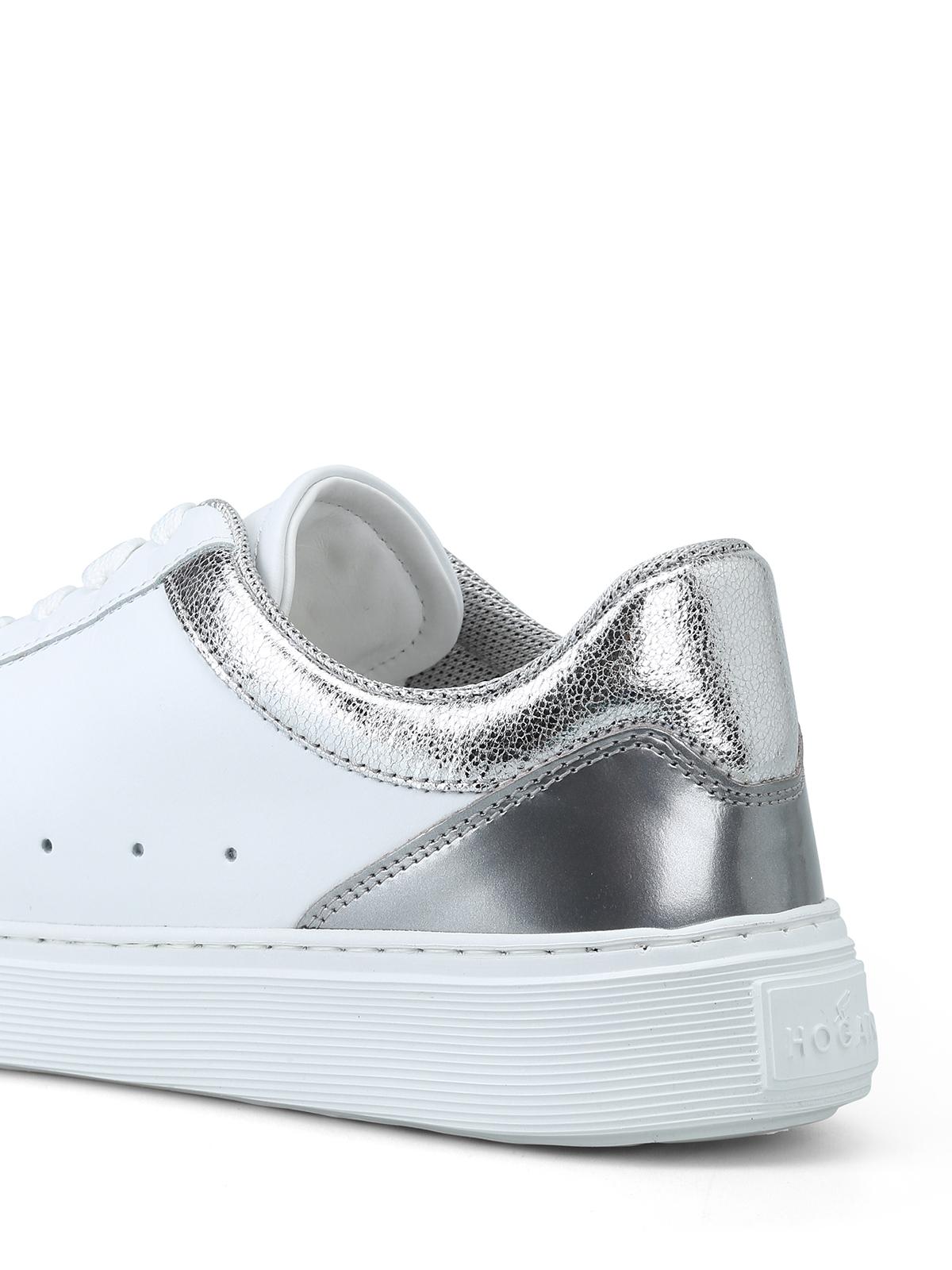 Sneakers Hogan - Sneaker H365 bianche e argento - HXW3650J971JCU0351