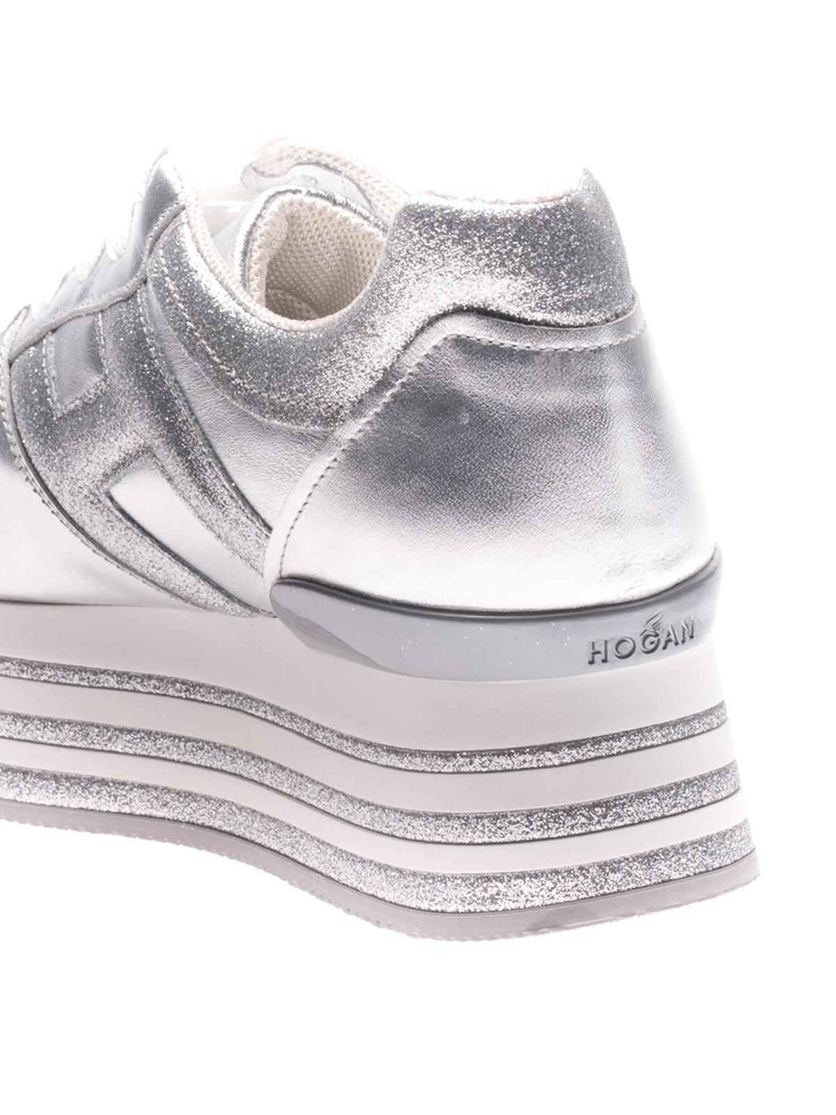 H368 lace-up platform sneakers shop online: Hogan