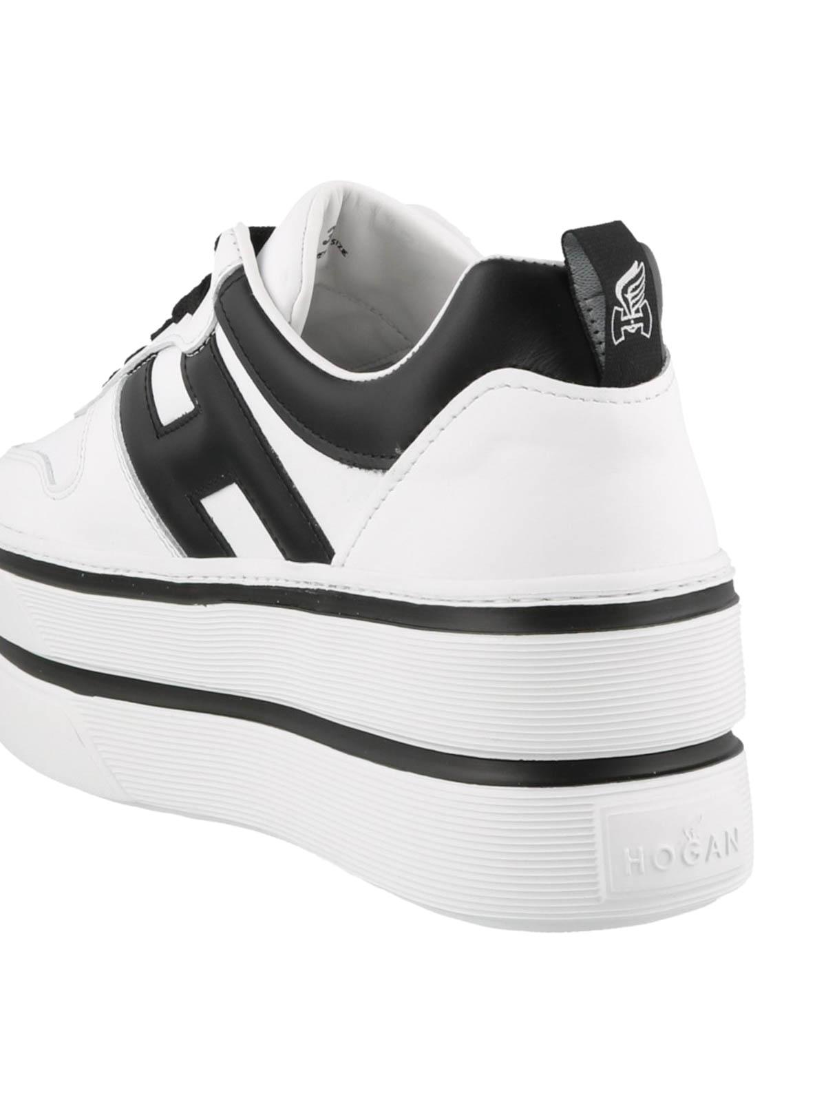 Sneakers Hogan - Sneaker H449 bianche e nere - GYW4490BS00KLA0001