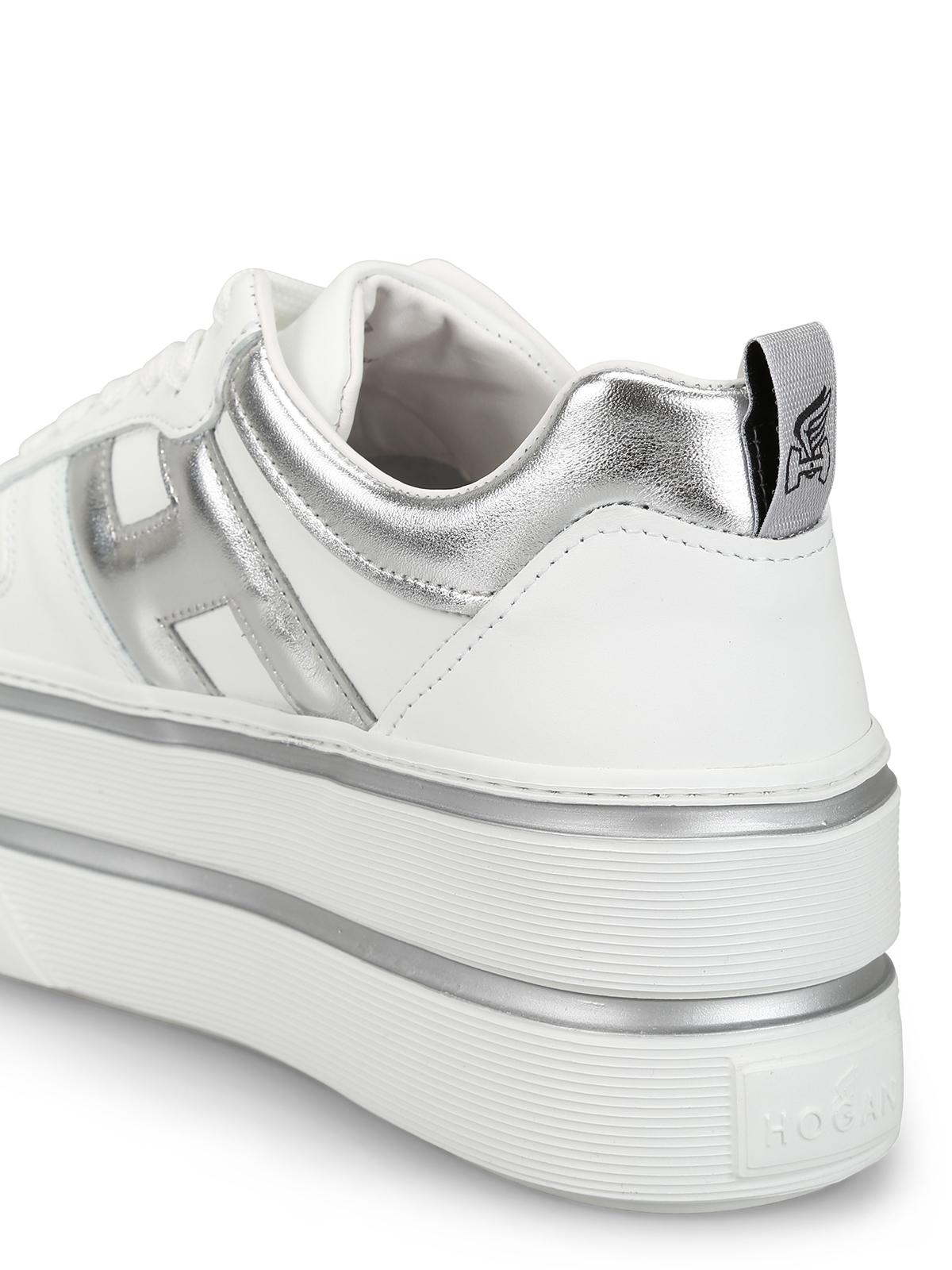 Sneakers Hogan - Sneaker H449 in pelle bianca oversize ...