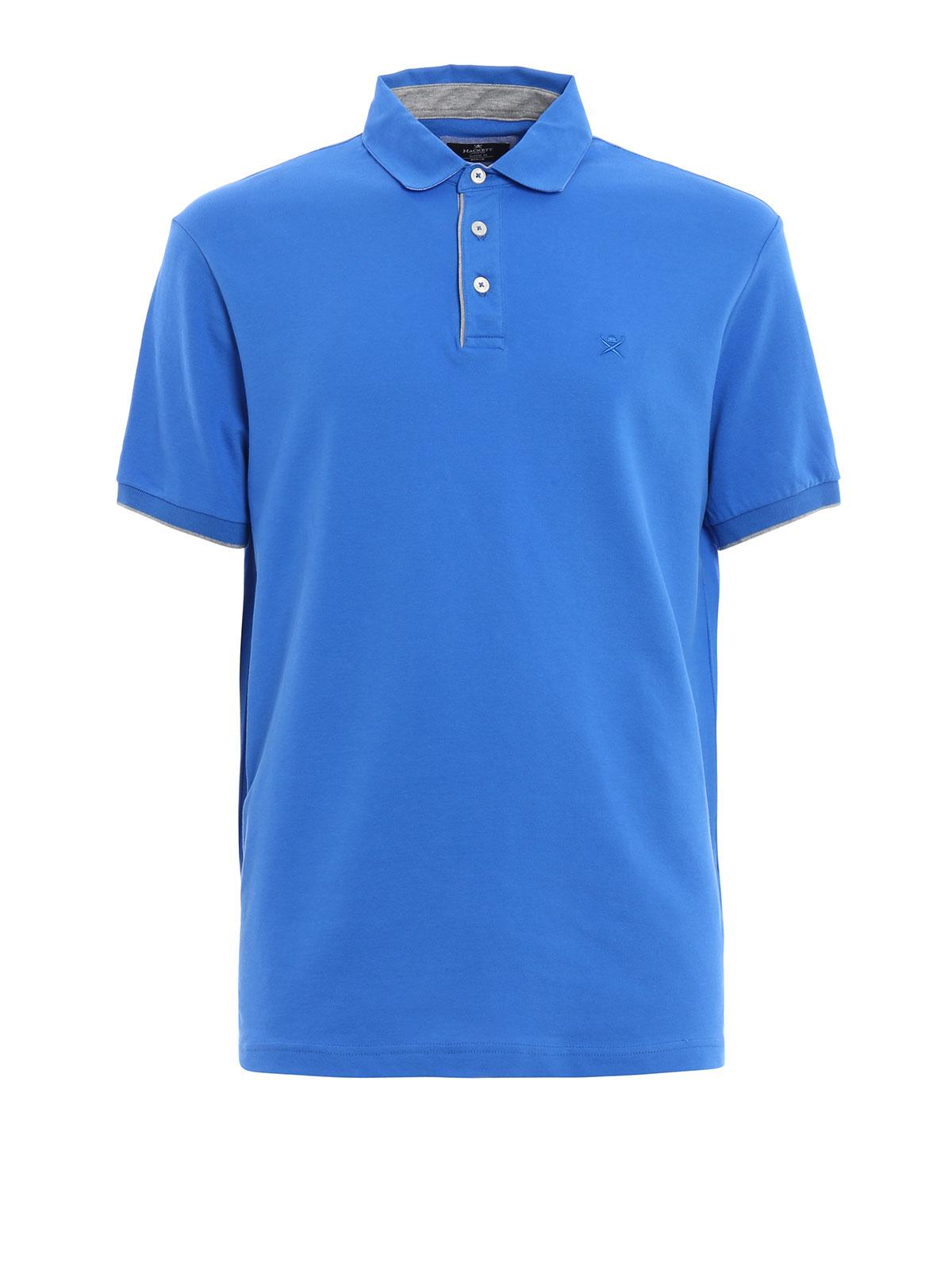 Cotton pique polo shirt by hackett polo shirts shop for Cotton on polo shirt