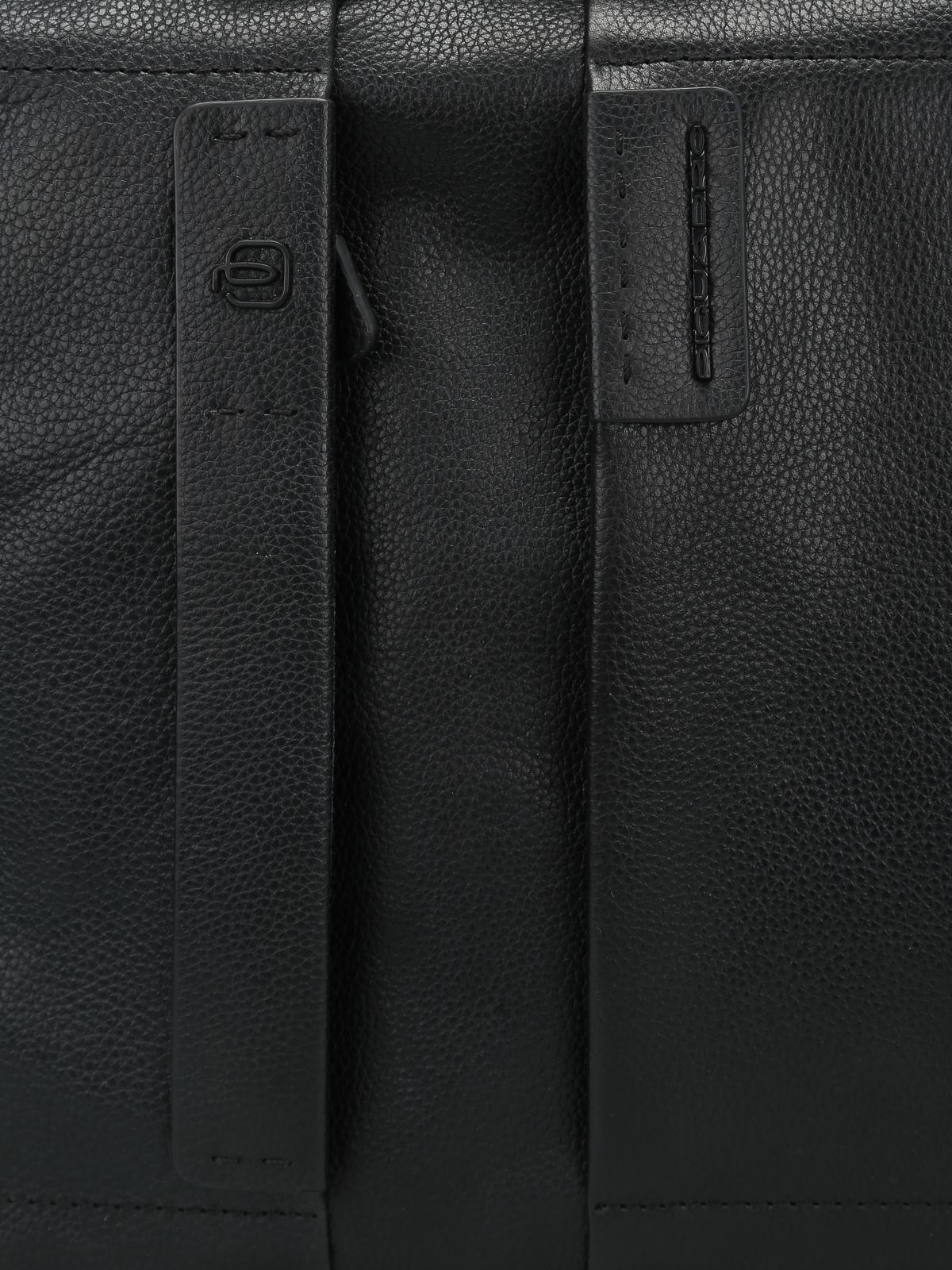 Piquadro borse ufficio pelle a grana laptop Porta nero da in 0wrqx0Rp1