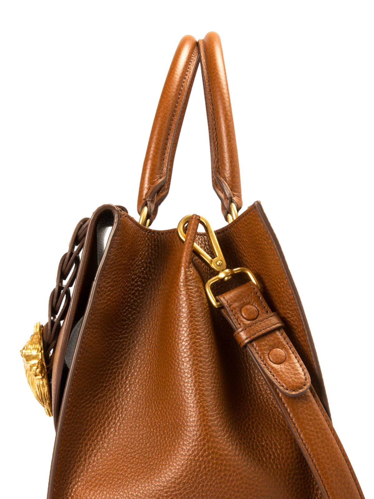 Roberto Cavalli Hammered leather bowling bag SPNwERC