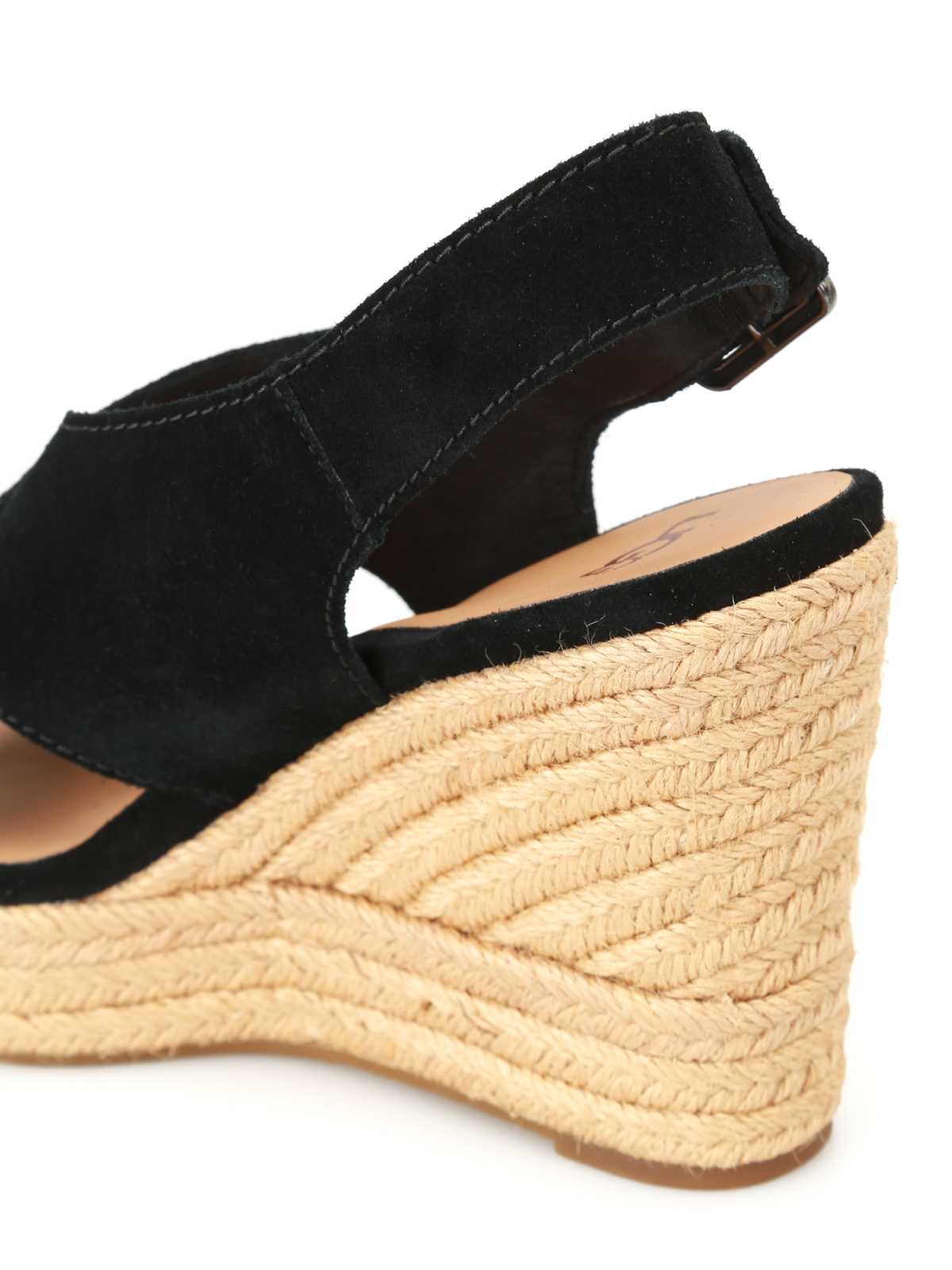 2c7e51624aa Ugg - Harlow black suede wedge sandals - sandals - W HARLOW 1019902 ...