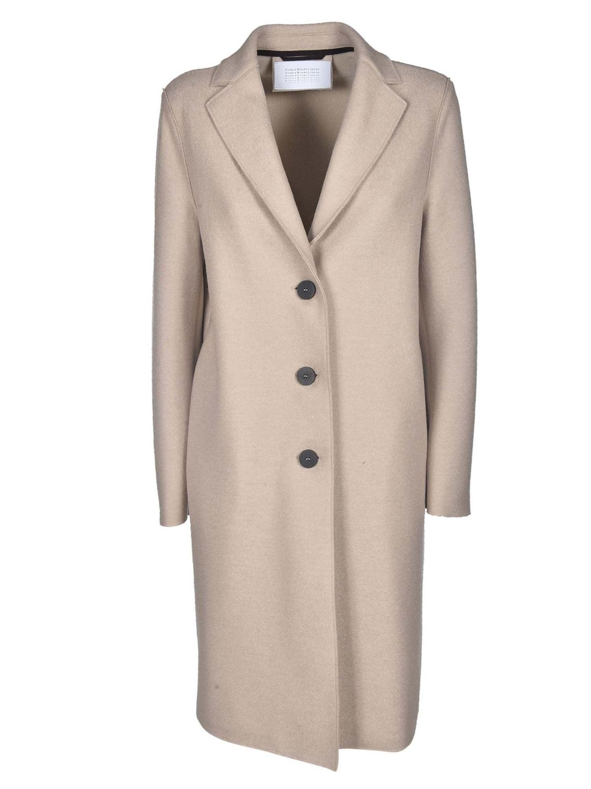 Harris Wharf London UNLINED COAT IN ALMOND COLOR