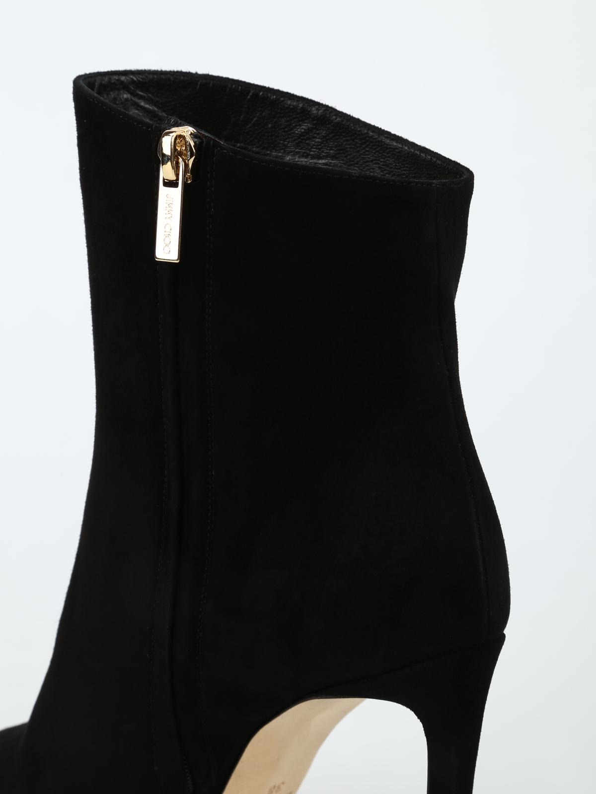 7422012e47a7 Jimmy Choo - Helaine 100 black suede heeled booties - ankle boots ...