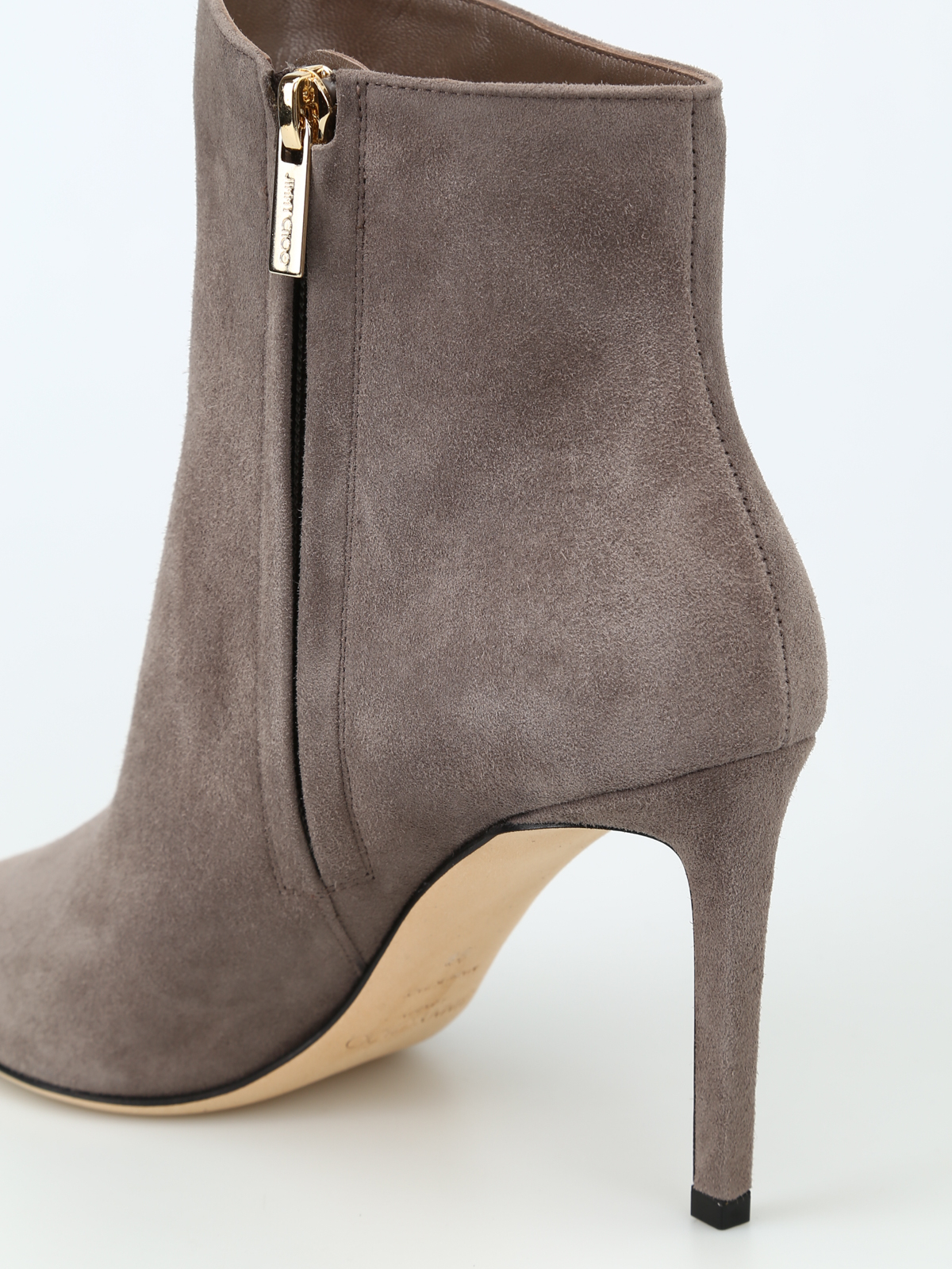 e243485b14e0 Jimmy Choo - Helaine 85 dark grey suede heeled booties - ankle boots ...
