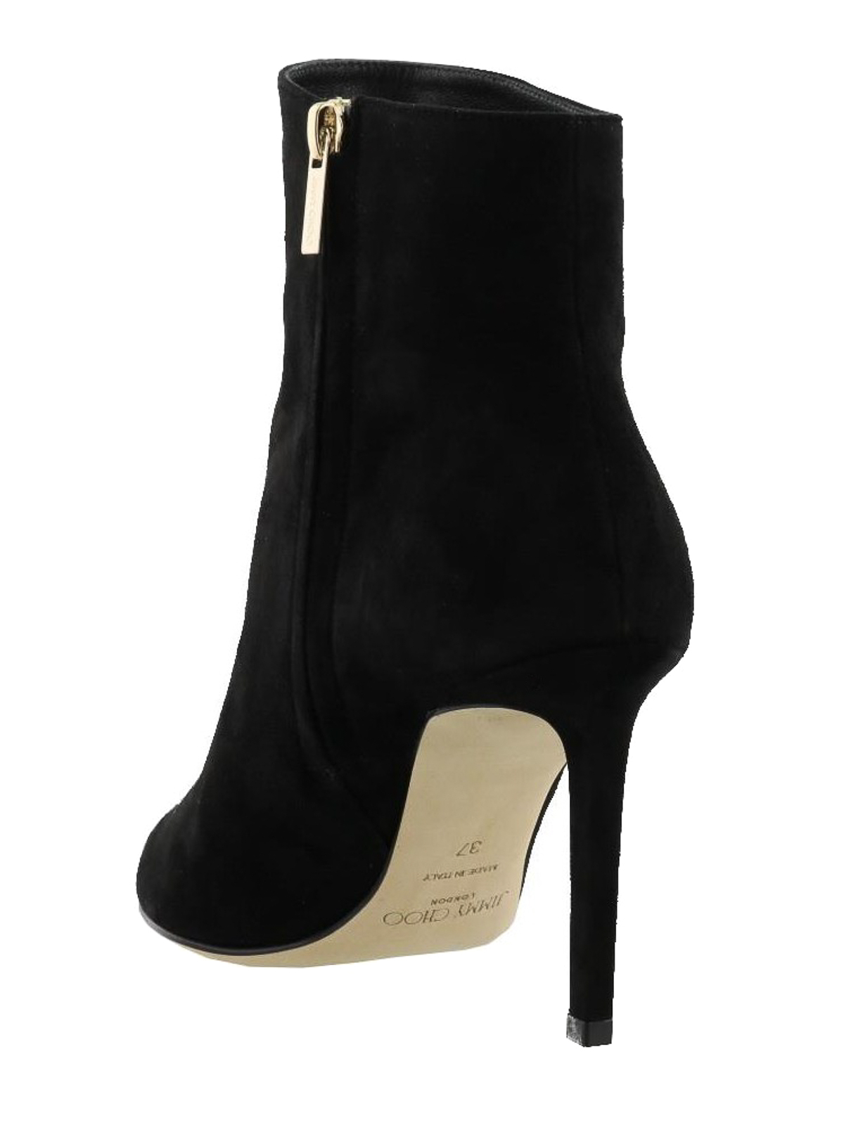 a49989f9634c Jimmy Choo - Helaine black suede heeled booties - ankle boots ...