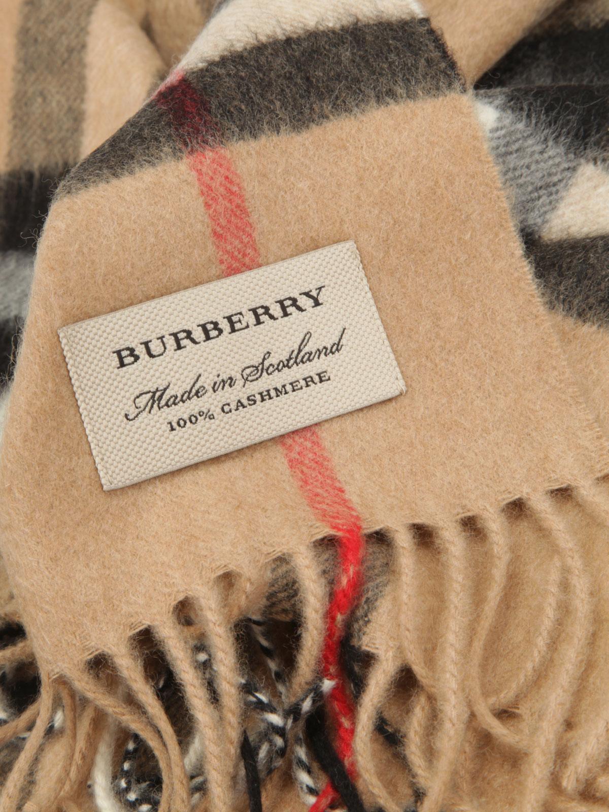 Heritage Sciarpe E Burberry Cashmere Sciarpa Check Foulard In OxUqw7S5