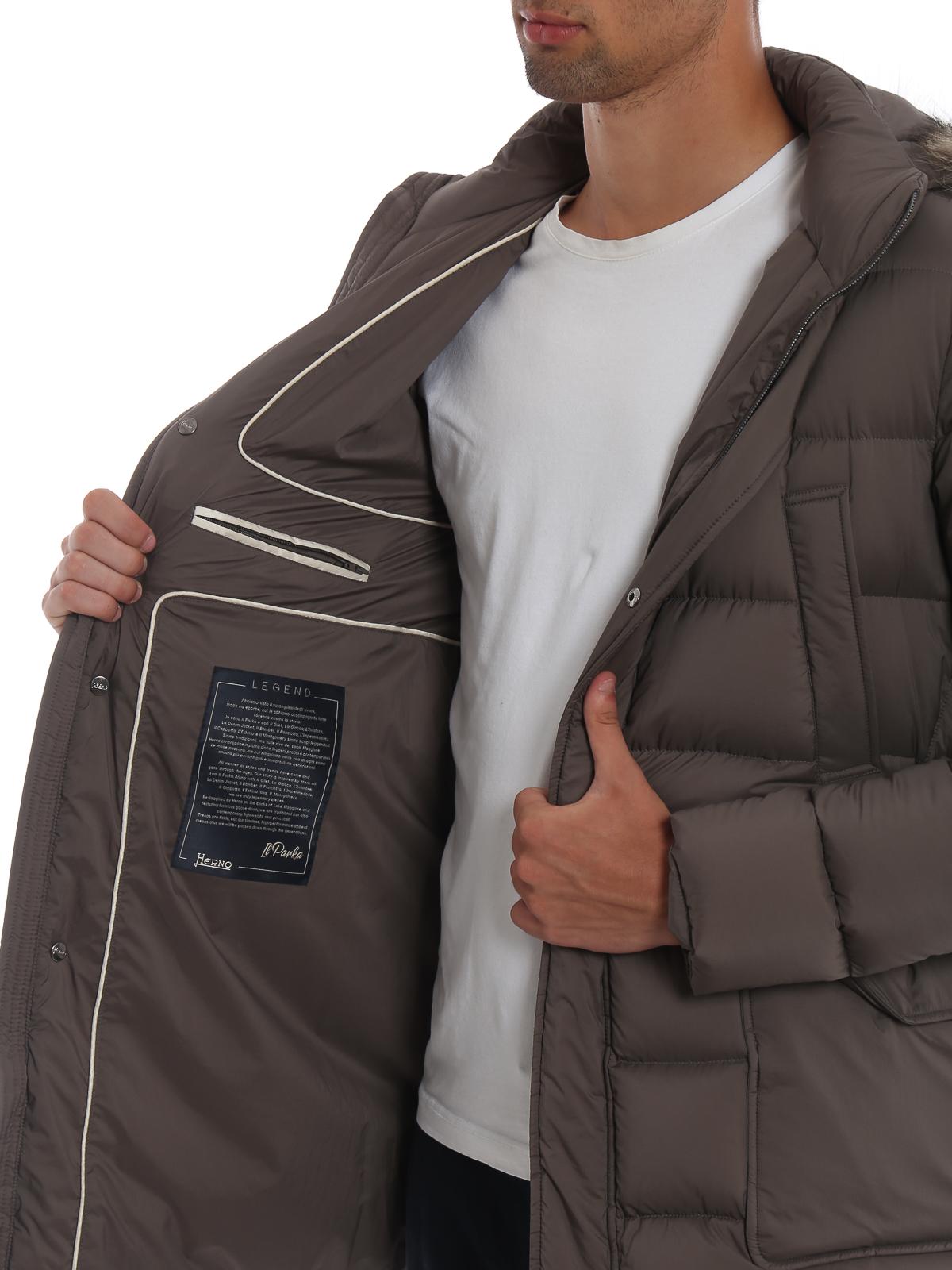 542f5c3528652 Herno - Il Parka taupe padded coat - padded coats - PI003ULE192882700