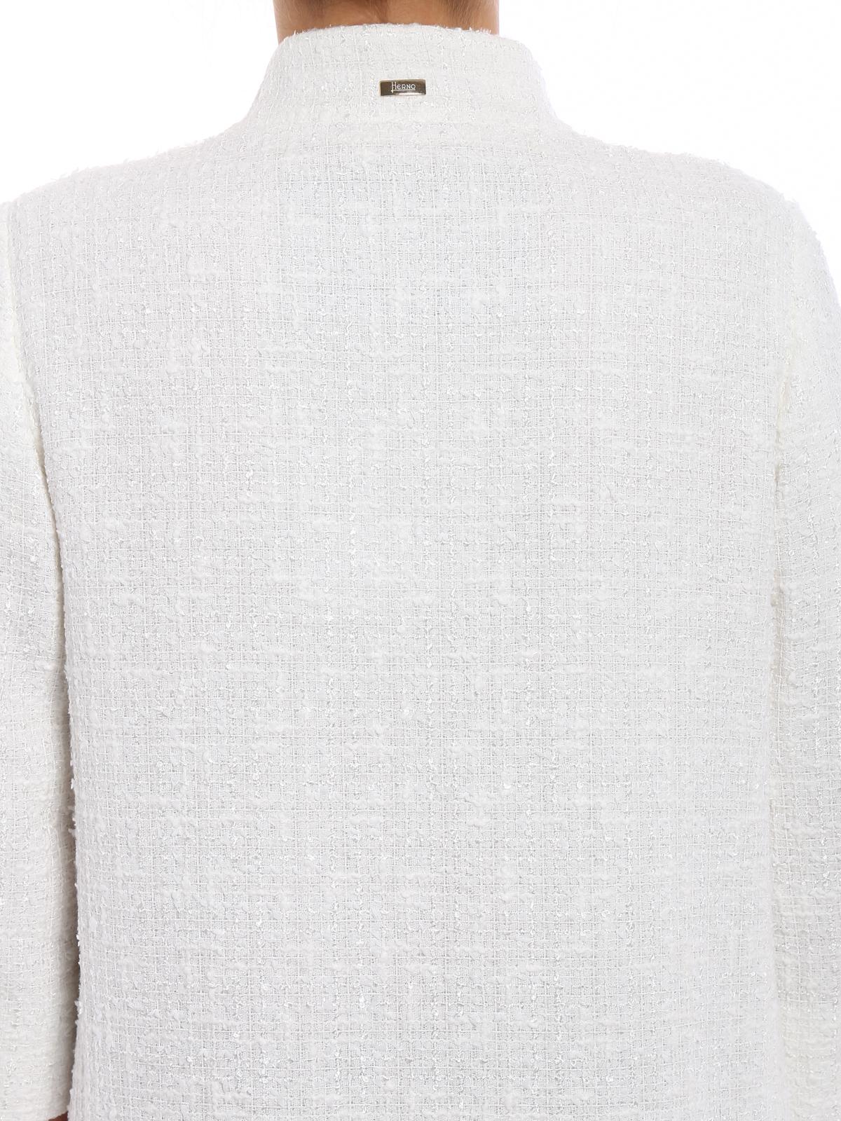 Cappottino lurex bianco