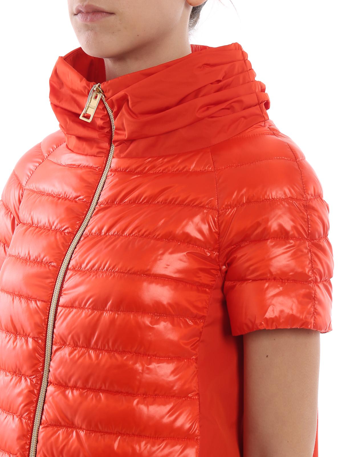 5e6bef4cd2f Herno - Red taffeta and nylon padded jacket - padded jackets ...
