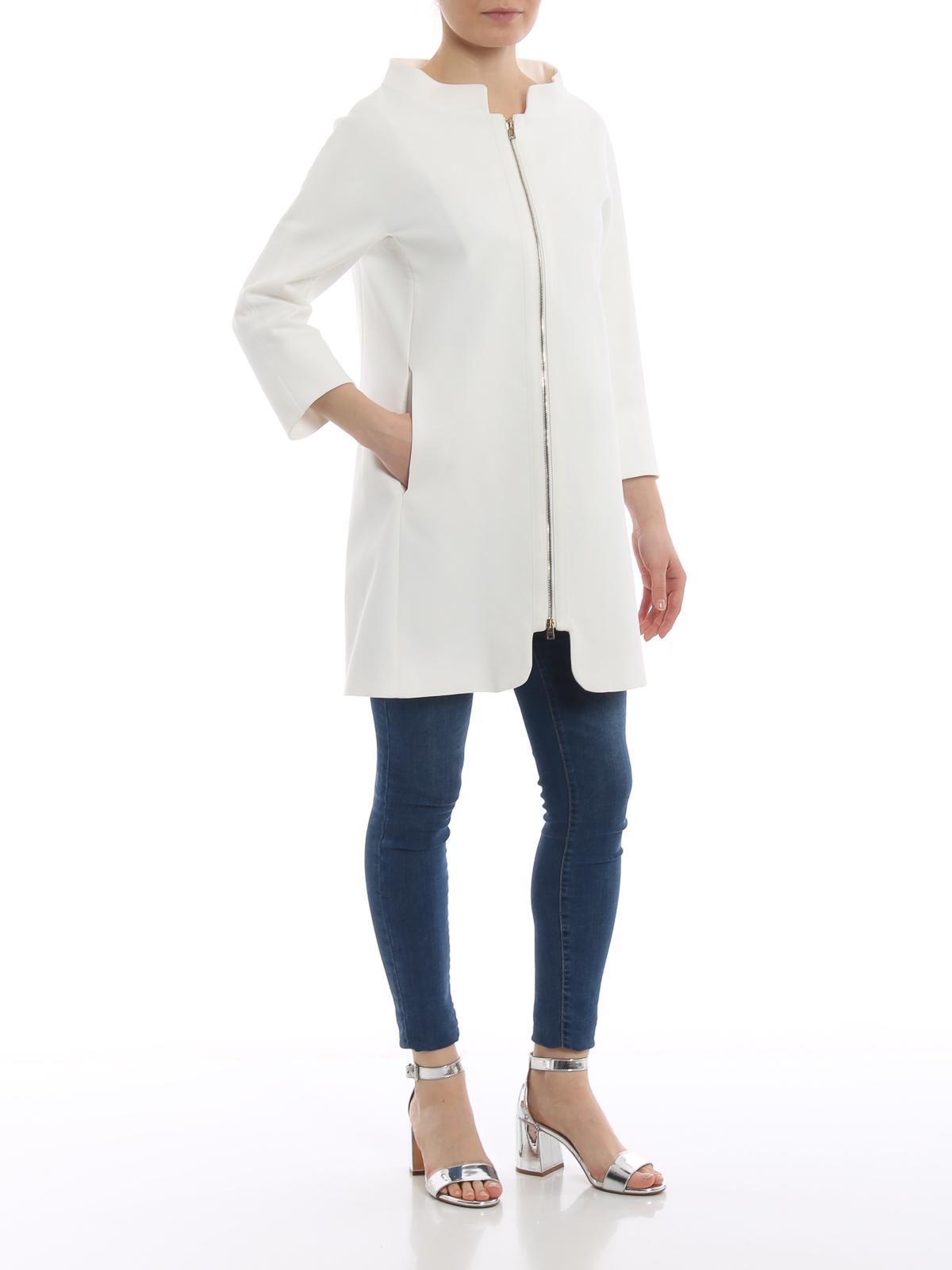 01a7d7ddddb292 HERNO: cappotti al ginocchio online - Soprabito bianco in cotone